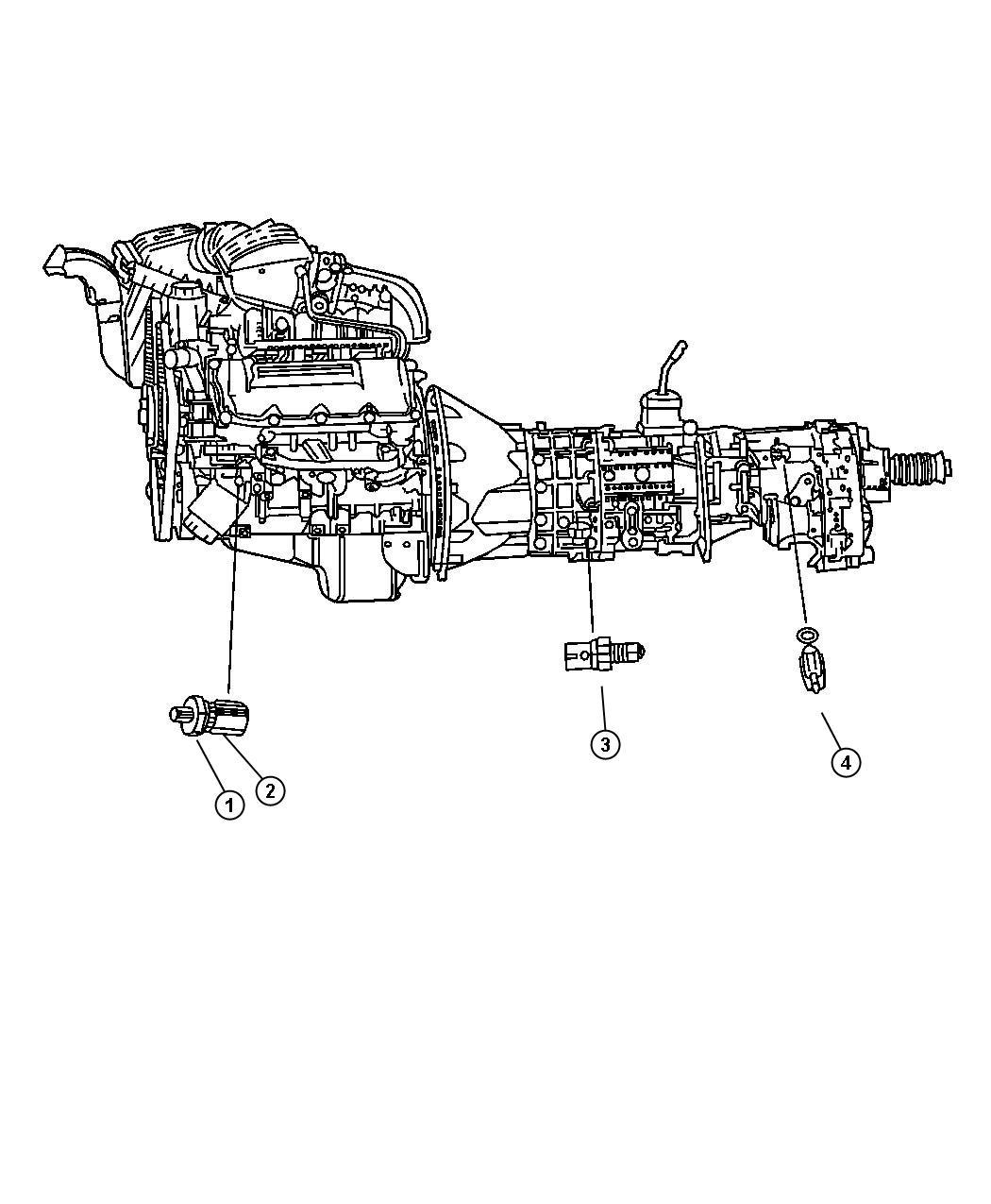 Jeep Grand Cherokee Sensor, switch. Oil pressure