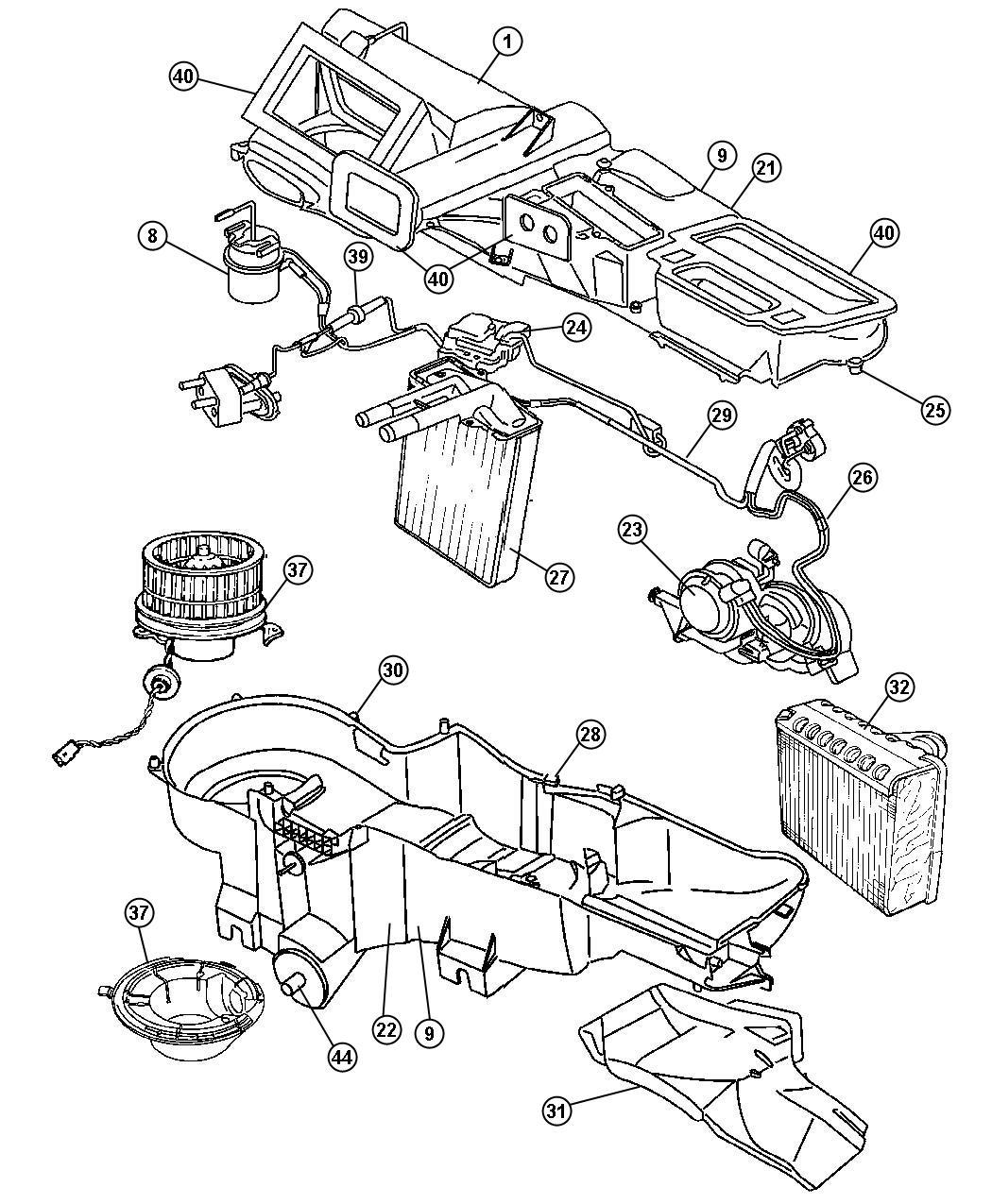 Dodge Durango Actuator. Used for: a/c and heater. Vacuum