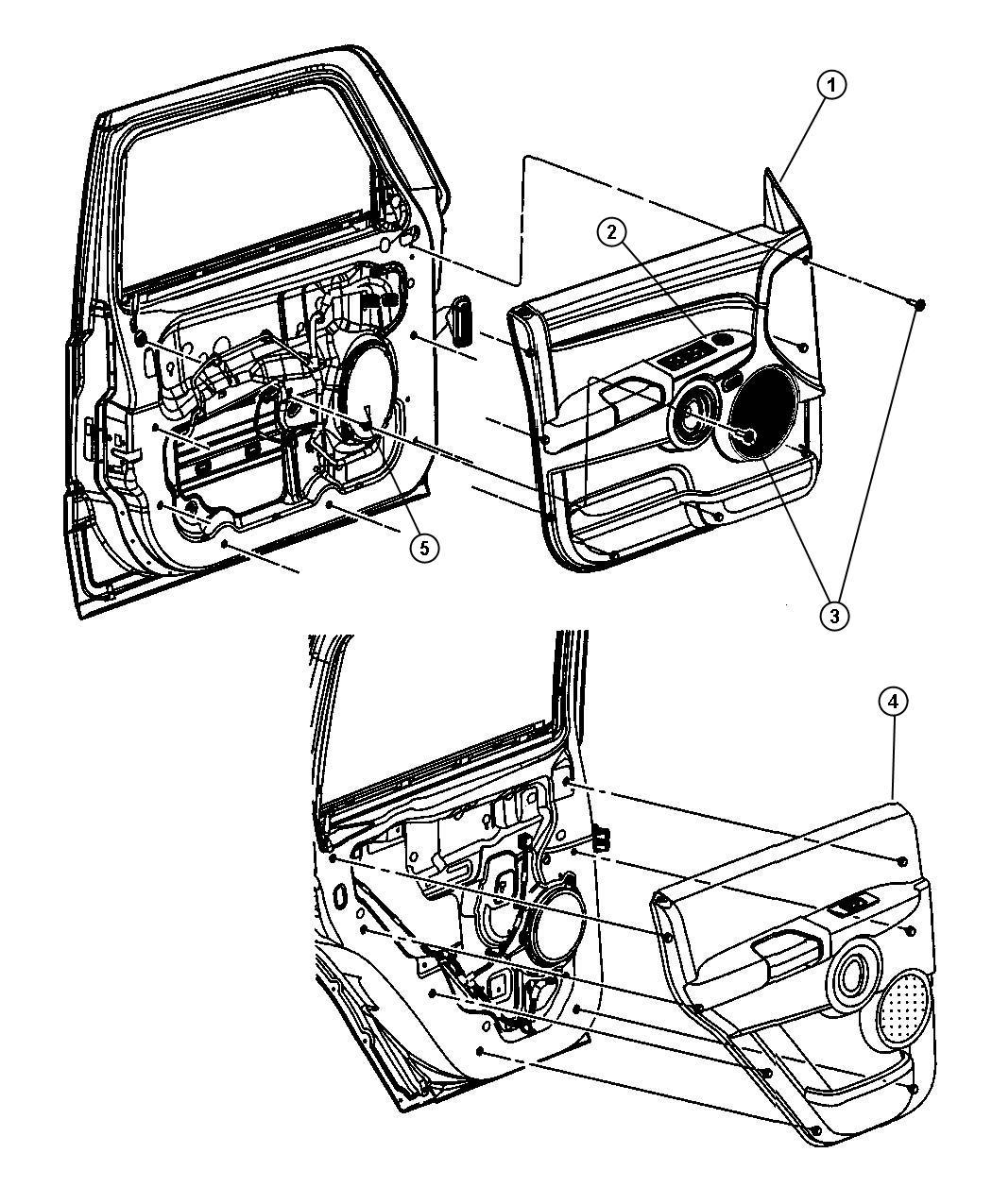Jeep Commander Panel. Rear door trim. Right. Trim: [all