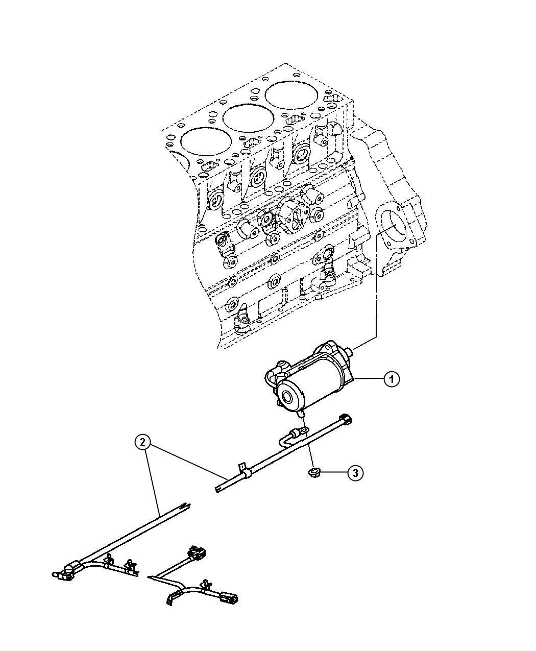 2005 Dodge Ram 2500 Screw. Starter motor. Starter mtg