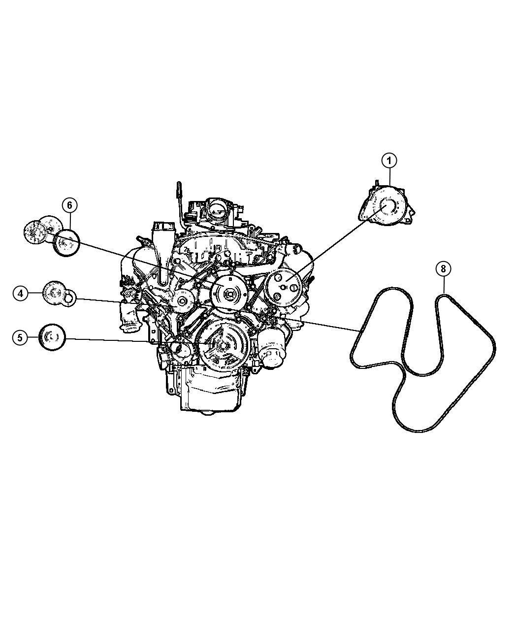 Dodge Dakota Tensioner Belt 3 7l V6 Engine