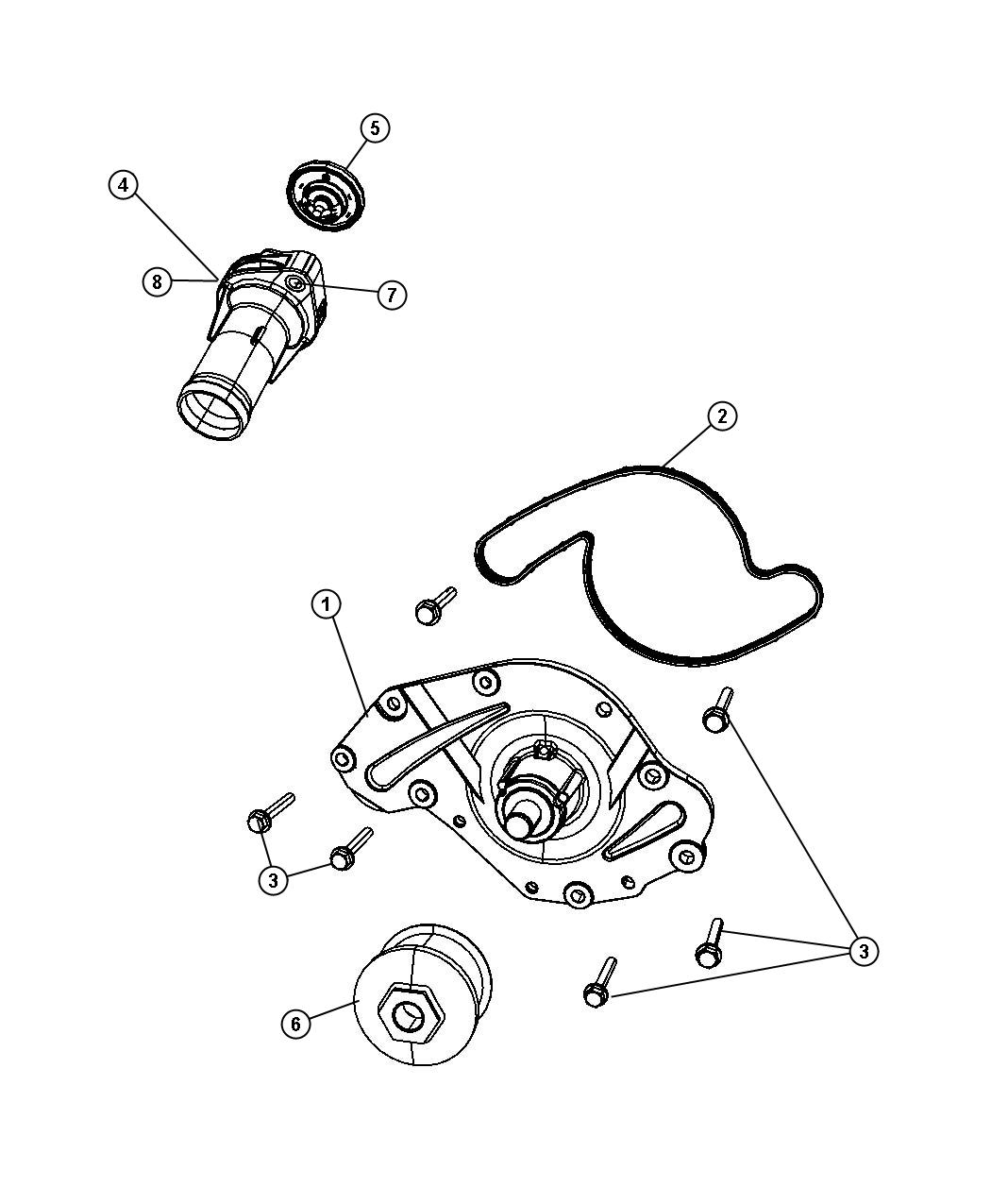 Jeep Wrangler Thermostat Plastic Connector