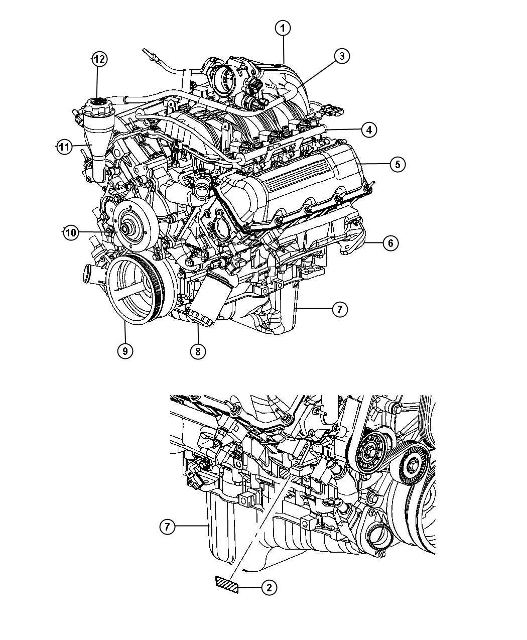 Dodge Nitro Hose, tube. Crankcase vent to intake manifold