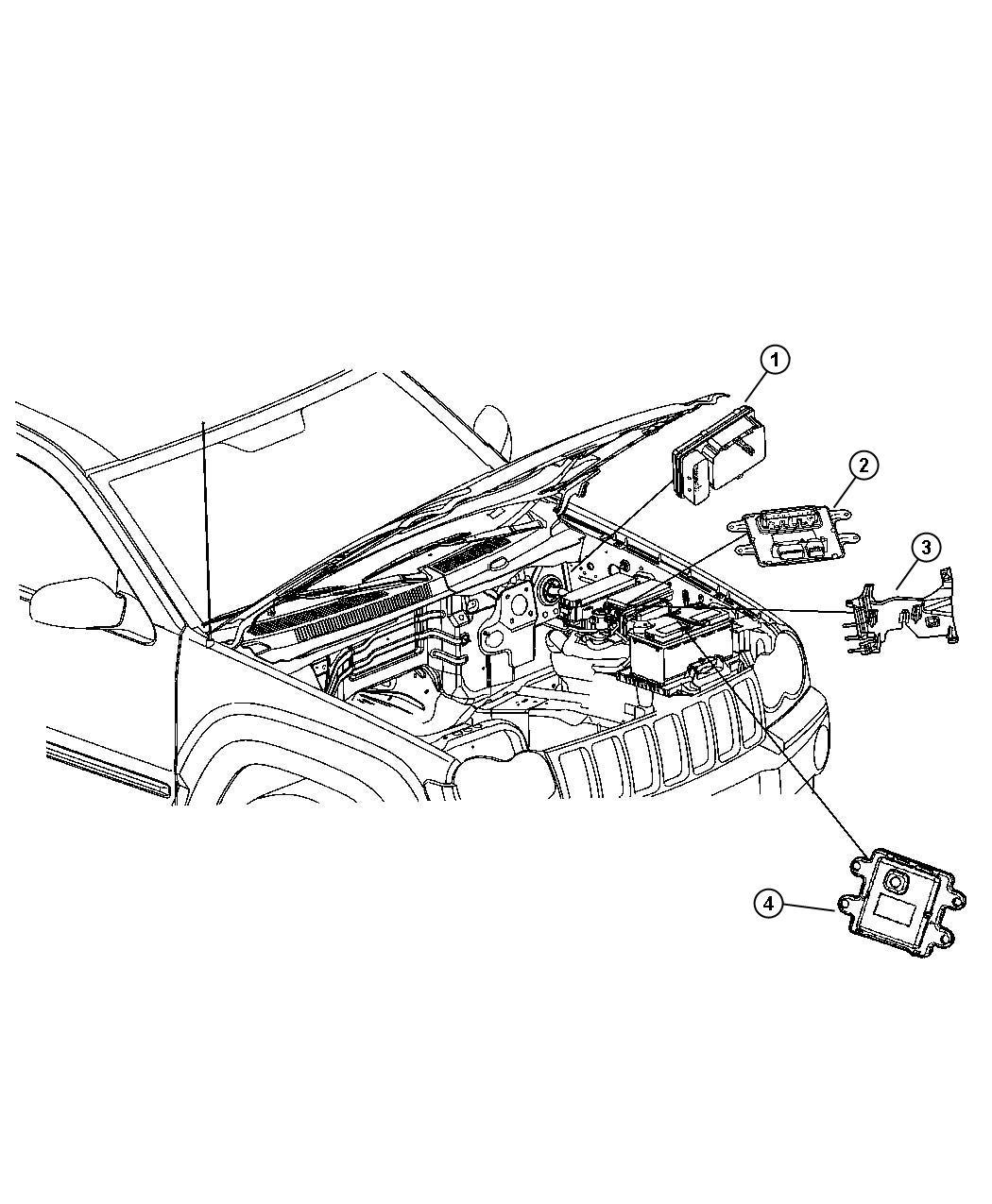 Jeep Commander Module Front Control