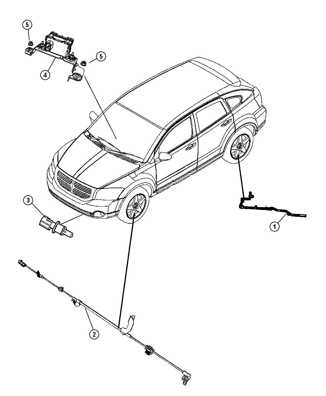 Jeep Patriot Sensor. Dynamics. Used for: lateral