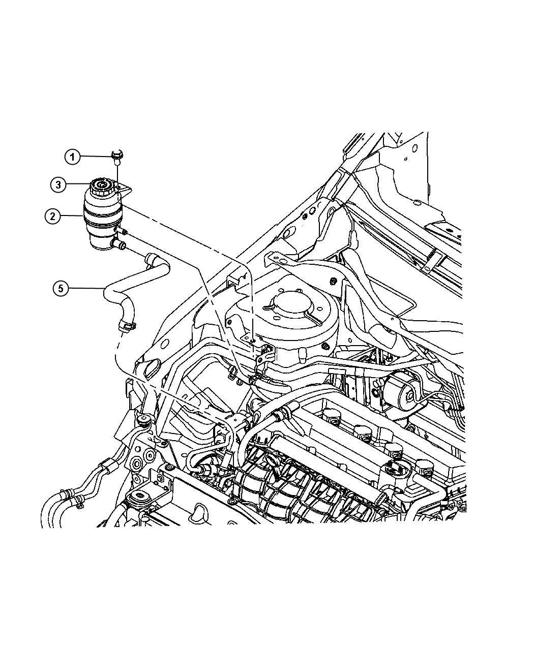 2008 Jeep Patriot Reservoir. Power steering fluid, power
