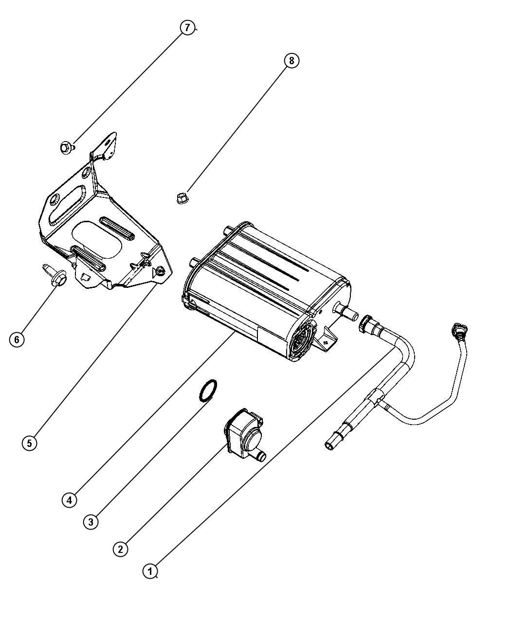 Jeep Wrangler Detector. Evaporative system integrity