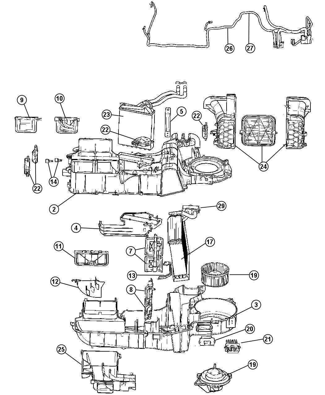 Chrysler Aspen Housing kit. Used for: a/c and heater. [air