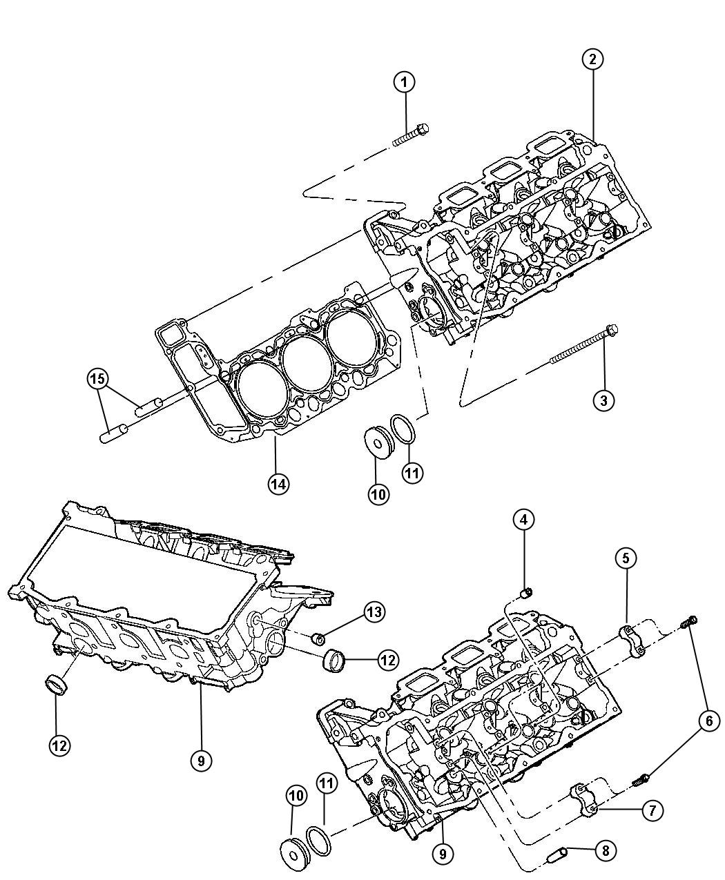 2007 Jeep Liberty Cylinder Head And Mounting 3.7L [3.7L