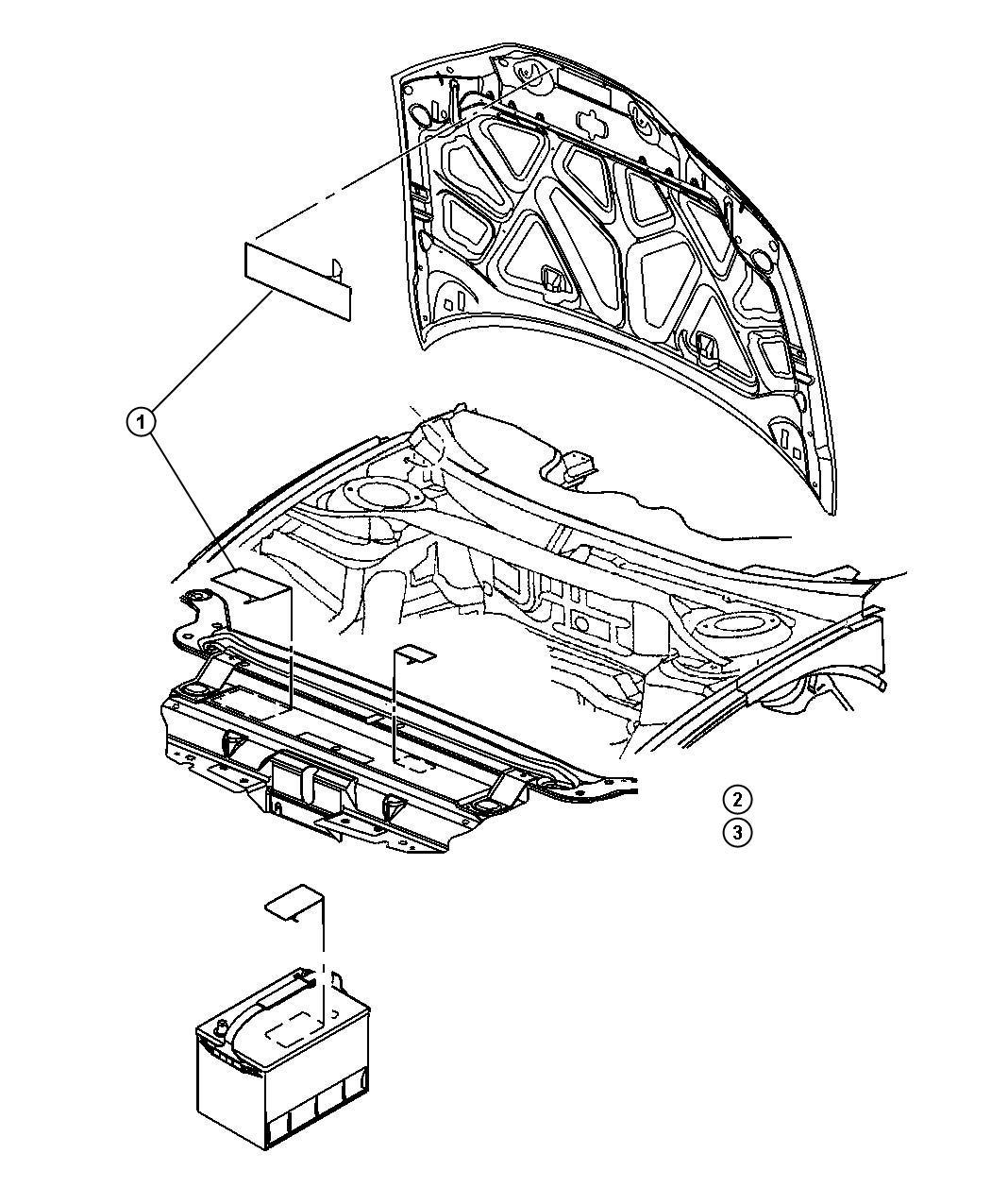 Jeep Liberty Label. Brake fluid warning, master cylinder