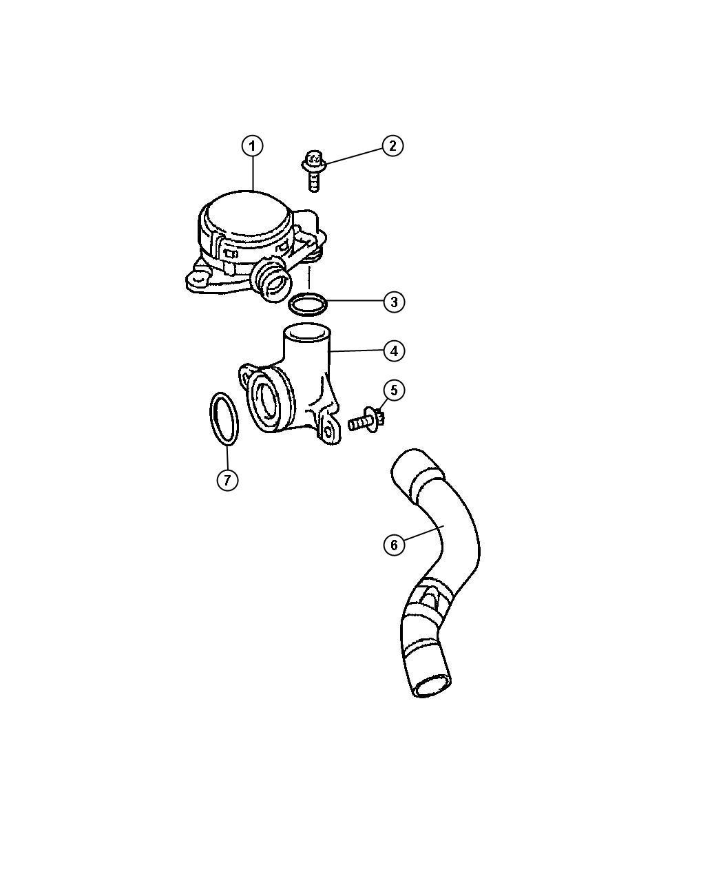 Jeep Grand Cherokee Hose. Cylinder head to intake manifold