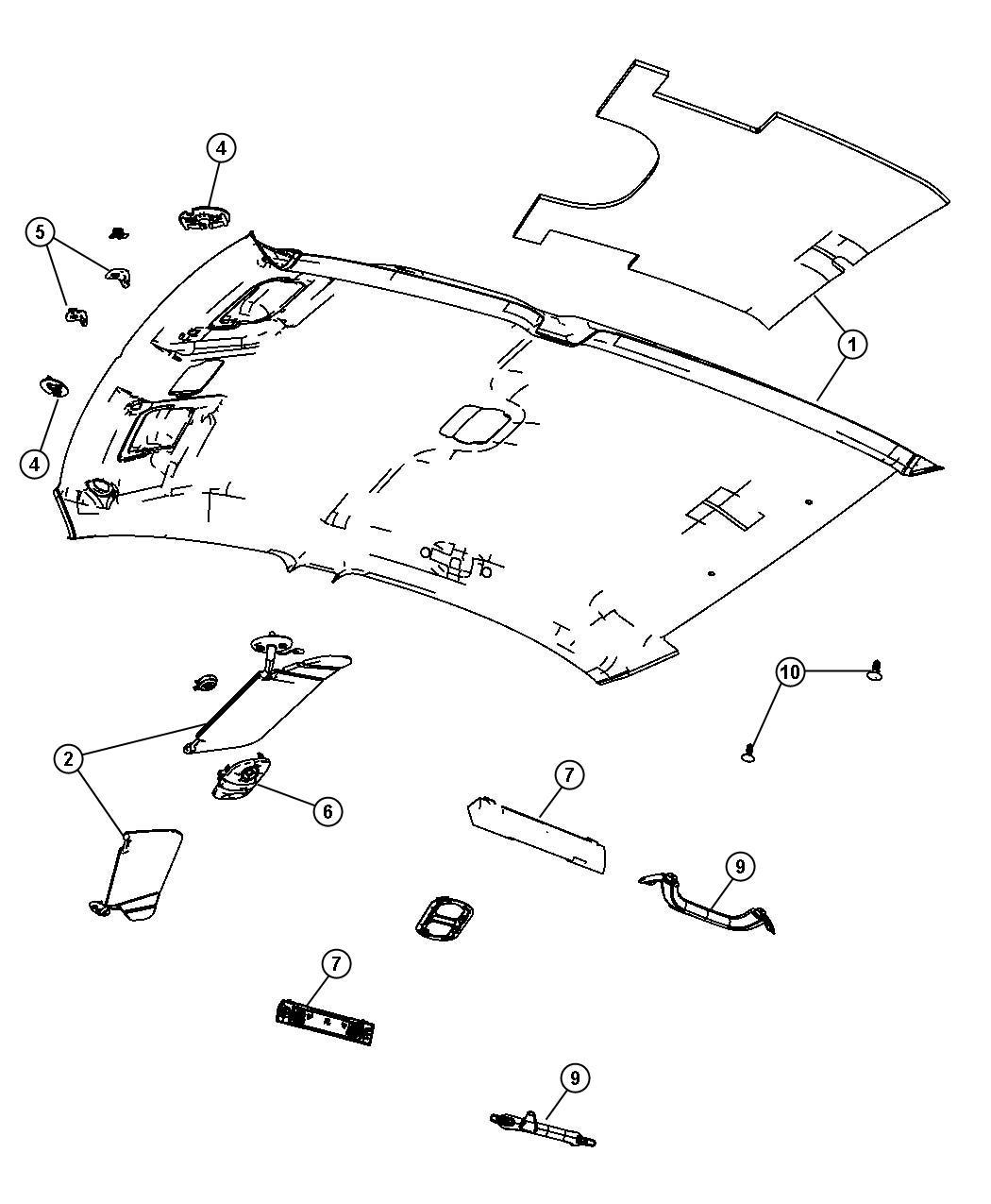 Search Chrysler Sebring Interior Headliner Visors And
