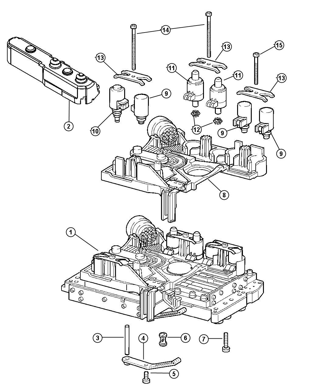 2004 Chrysler Crossfire Magnet, solenoid. Transmission