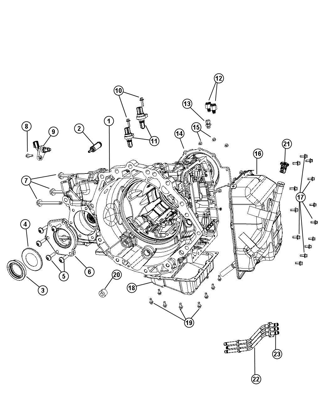 Chrysler Pacifica Speed sensor assy. Input output. Cab