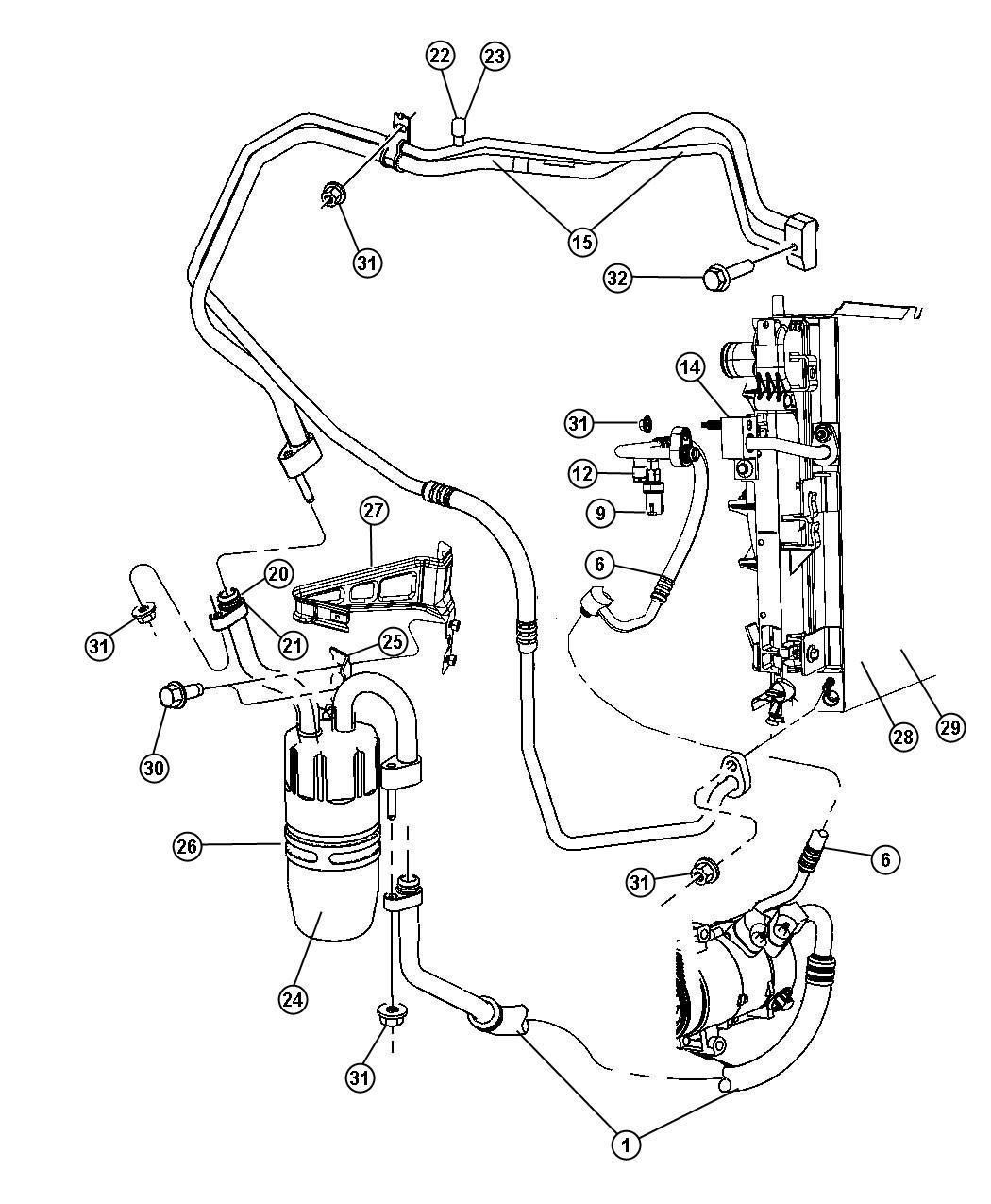 Chrysler Sebring Line A C Discharge