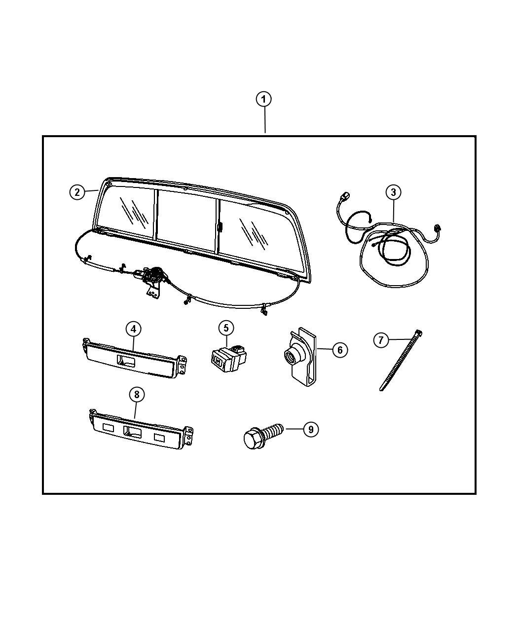 Dodge Ram 1500 Power Sliding Rear Window for Quad Cabs and
