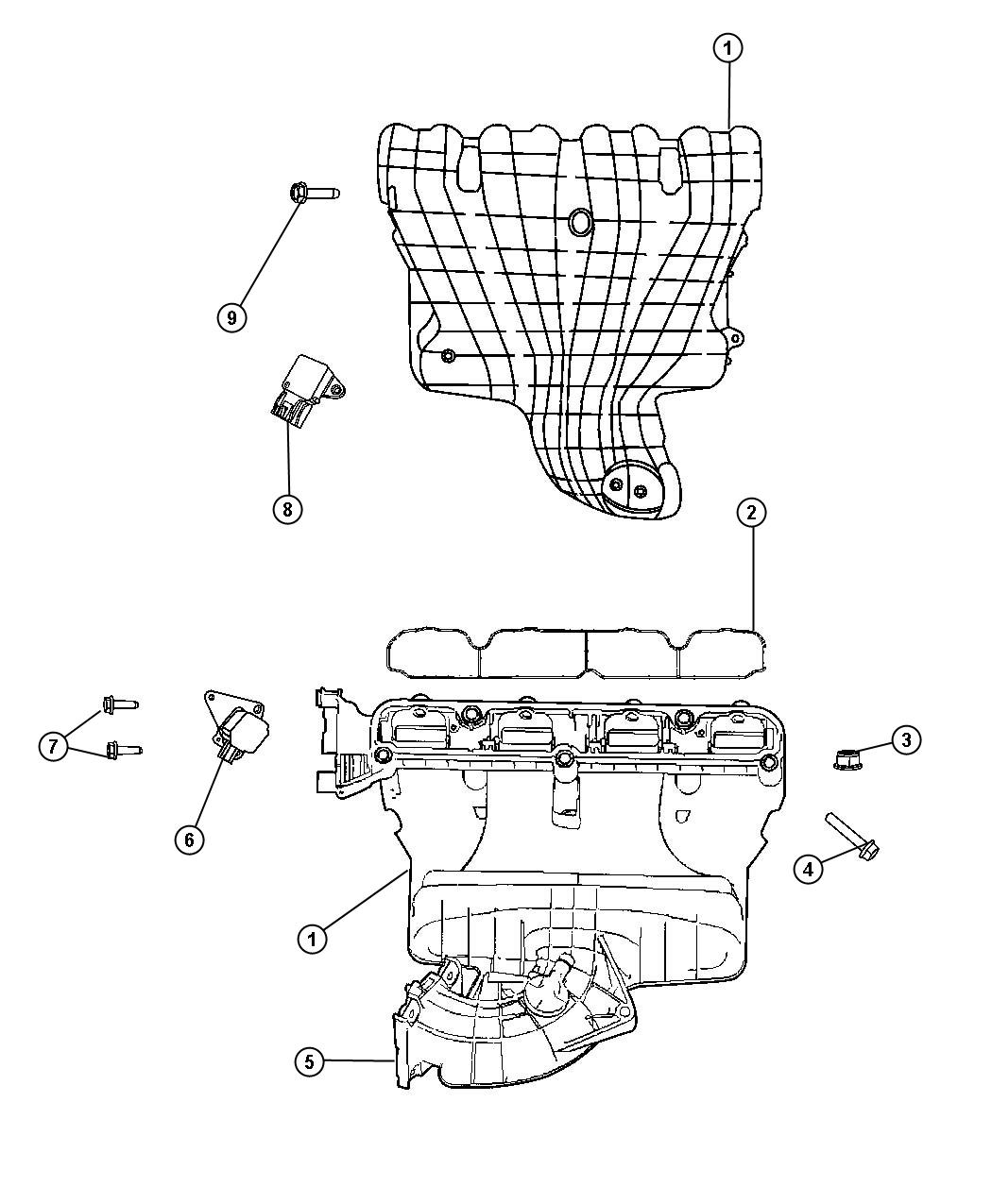 Dodge Journey Actuator. Flow control valve. With [5-speed