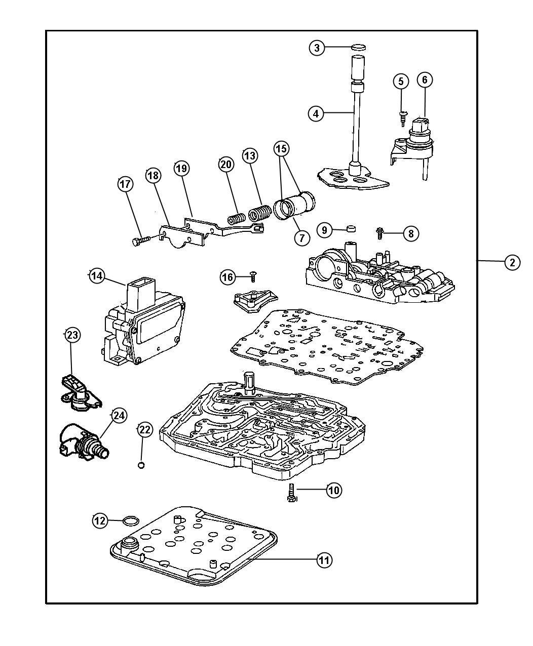 Dodge Sensor Transmission Range Super Track Pak