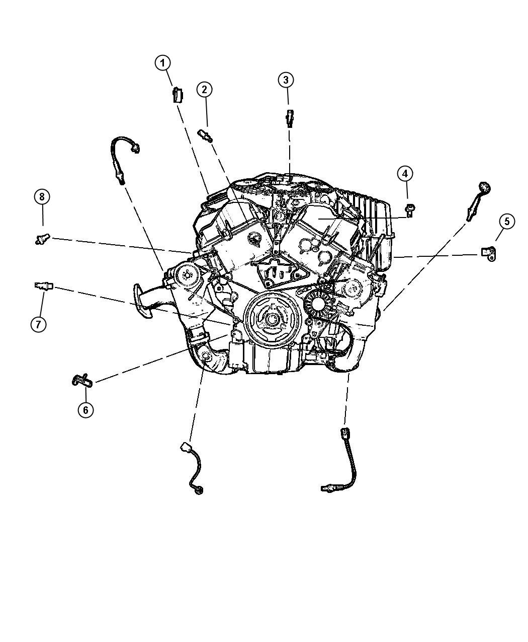 Chrysler Pacifica Sensor. Crankshaft position. Egt, egq