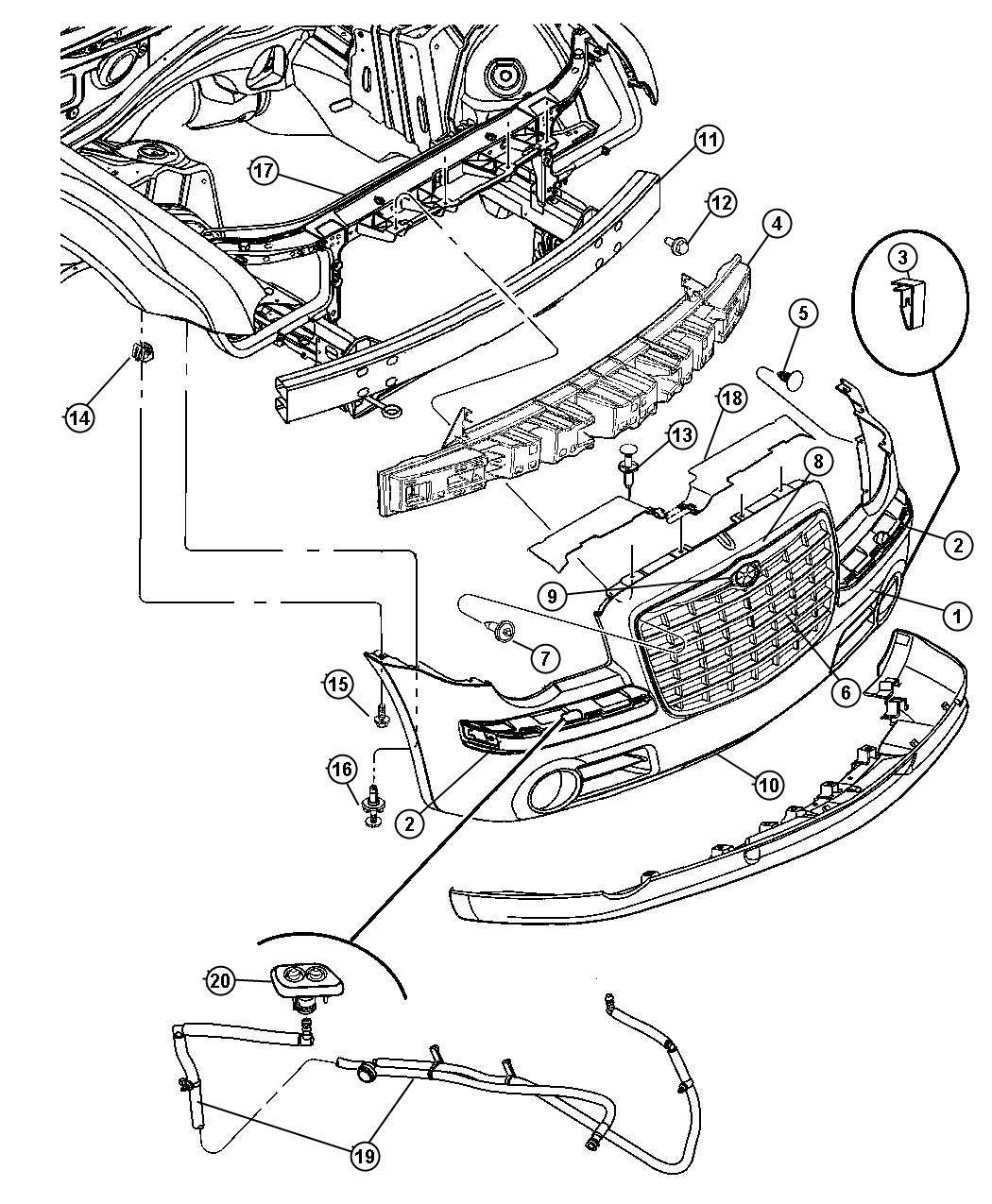 2006 Dodge Charger Panel. Closeout. Left. Displayheadlamp