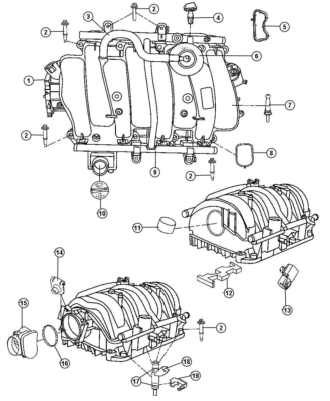 Jeep Hose Cylinder Head To Intake Manifold Pcv