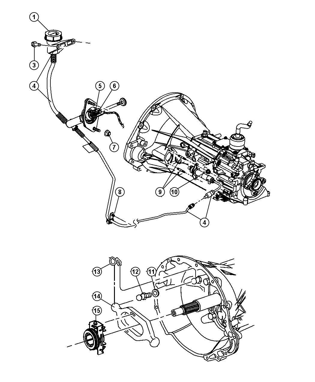 Dodge Dakota Hydraulic Assembly Clutch Master