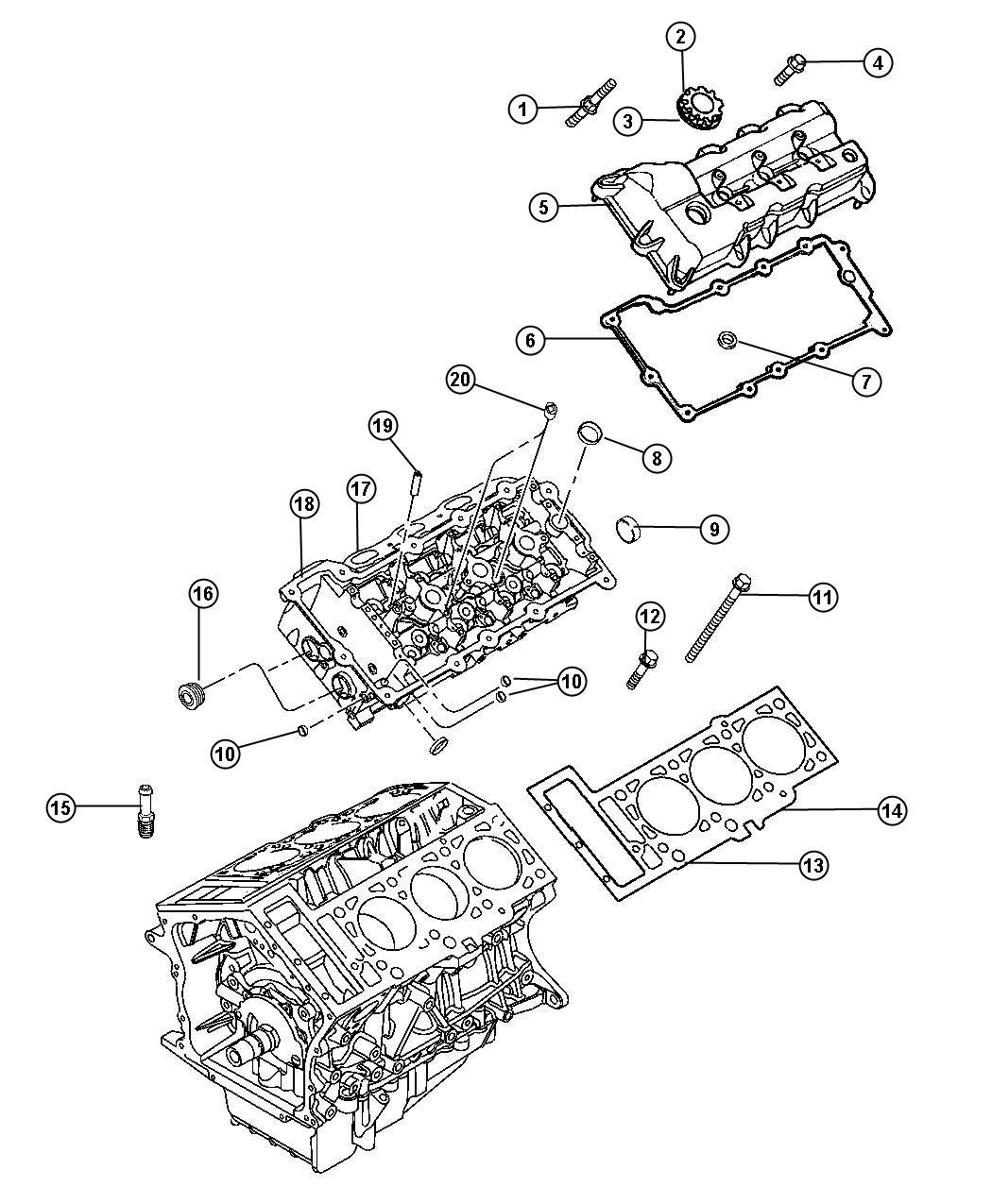 Chrysler Sebring Cover Cylinder Head Left Right