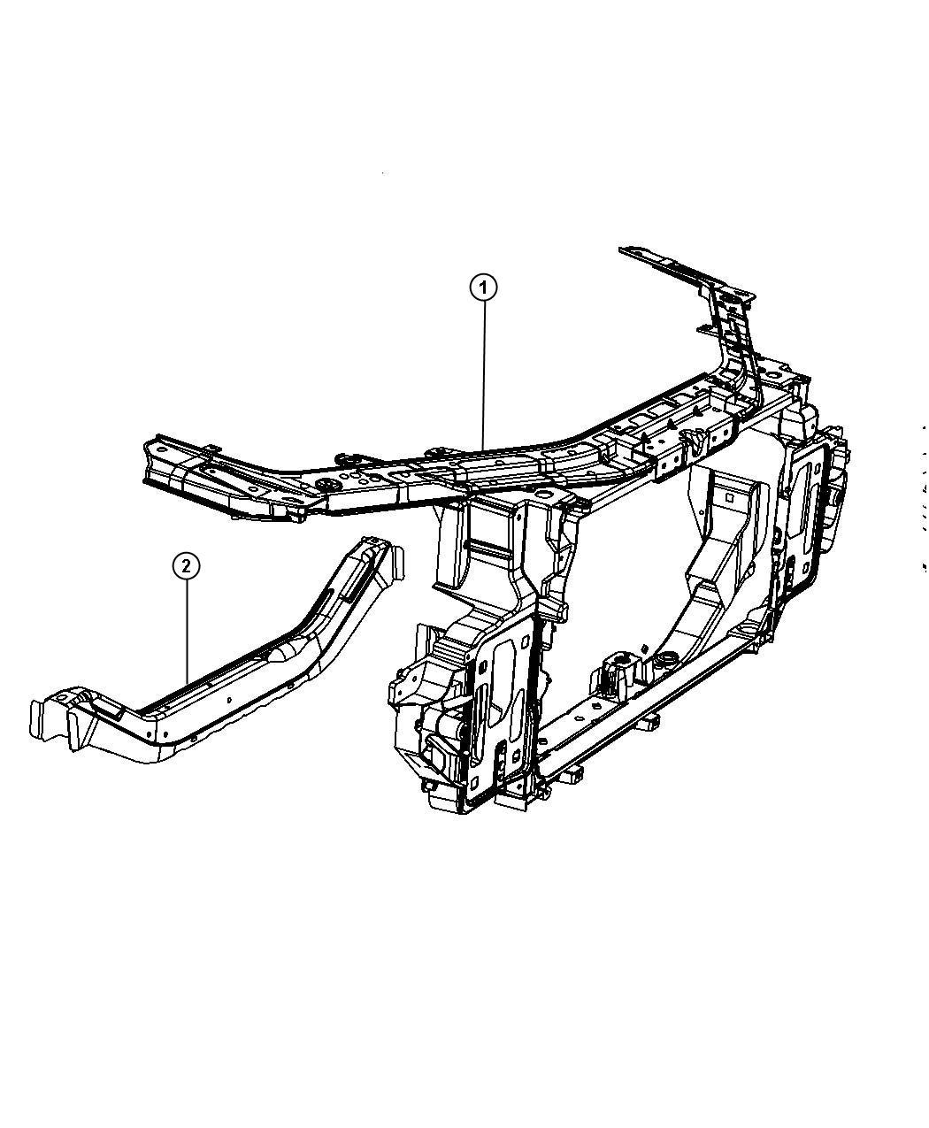 2010 Chrysler Sebring Brace, bracket, crossmember. Front