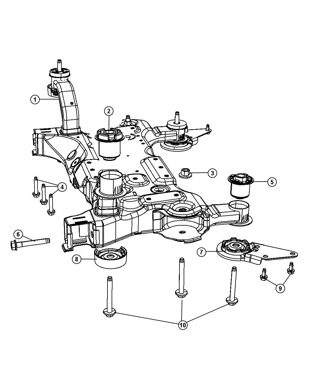 Chrysler Town Amp Country Crossmember Front Suspension