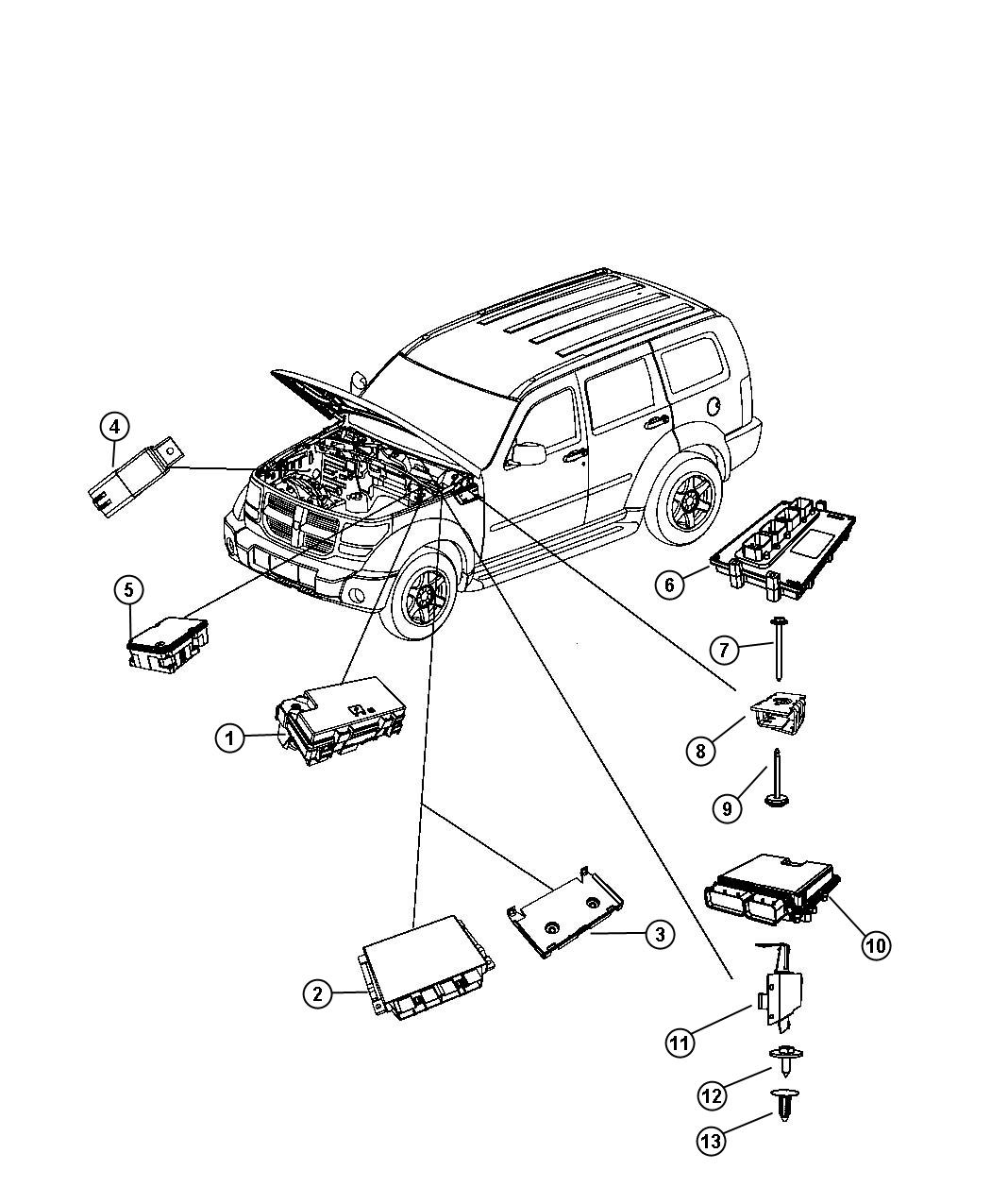Dodge Nitro Engine Compartment Diagram