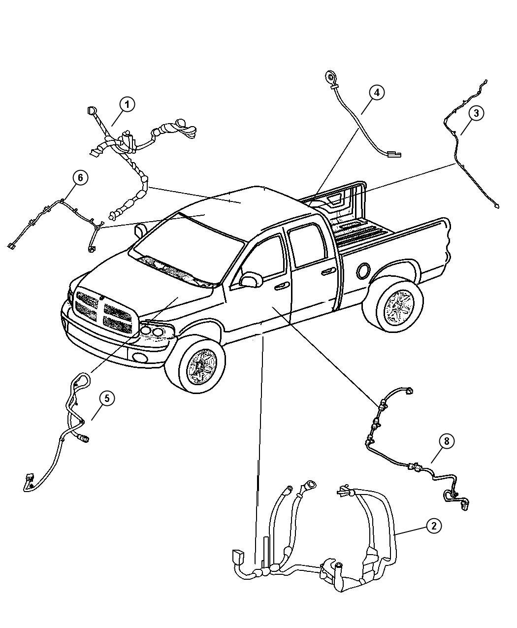 Dodge Ram 2500 Wiring. Body. [next gen multistage front