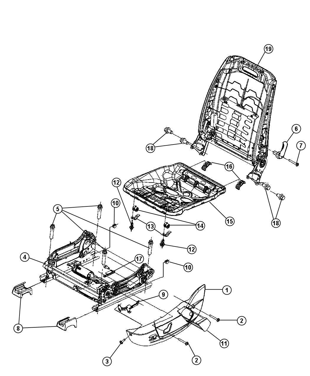 Service manual [2010 Dodge Nitro Seat Rail Guide