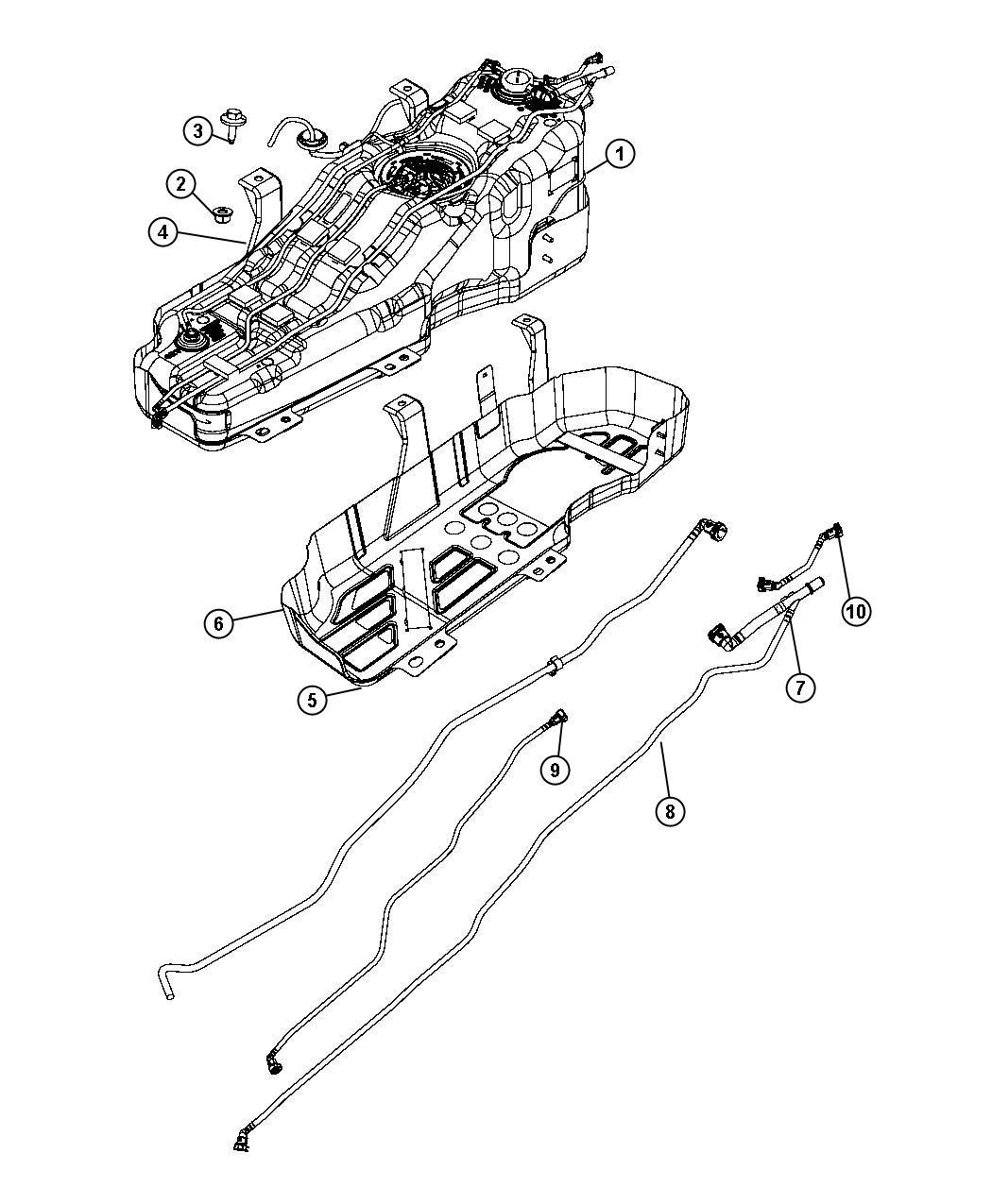 Jeep Liberty Tube Fuel Supply 18 5 Gallon Fuel Tank