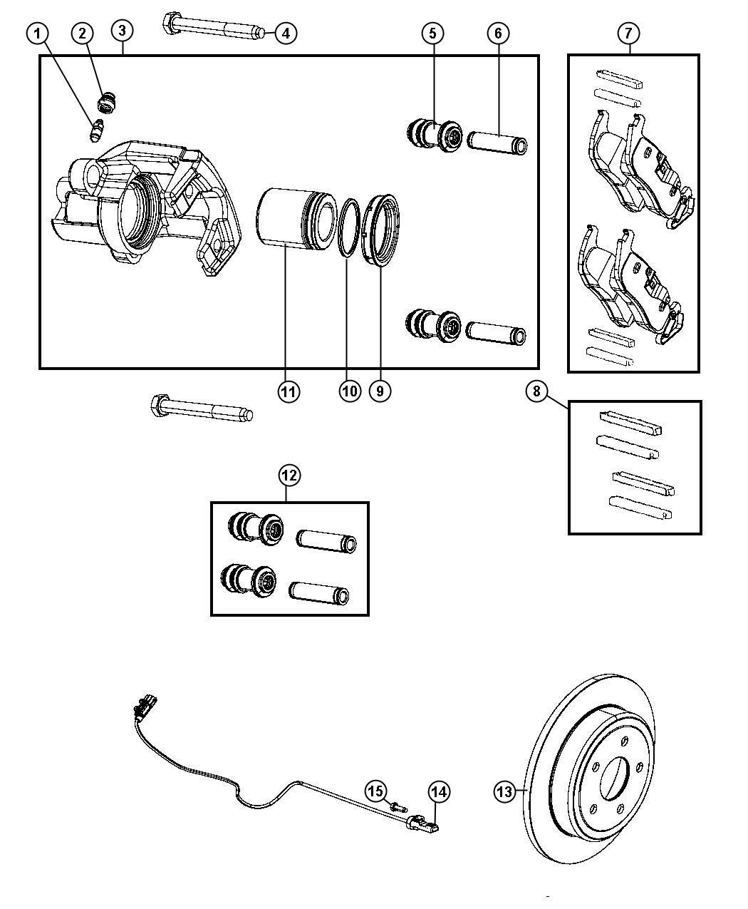 Jeep Grand Cherokee Rotor Brake Rear