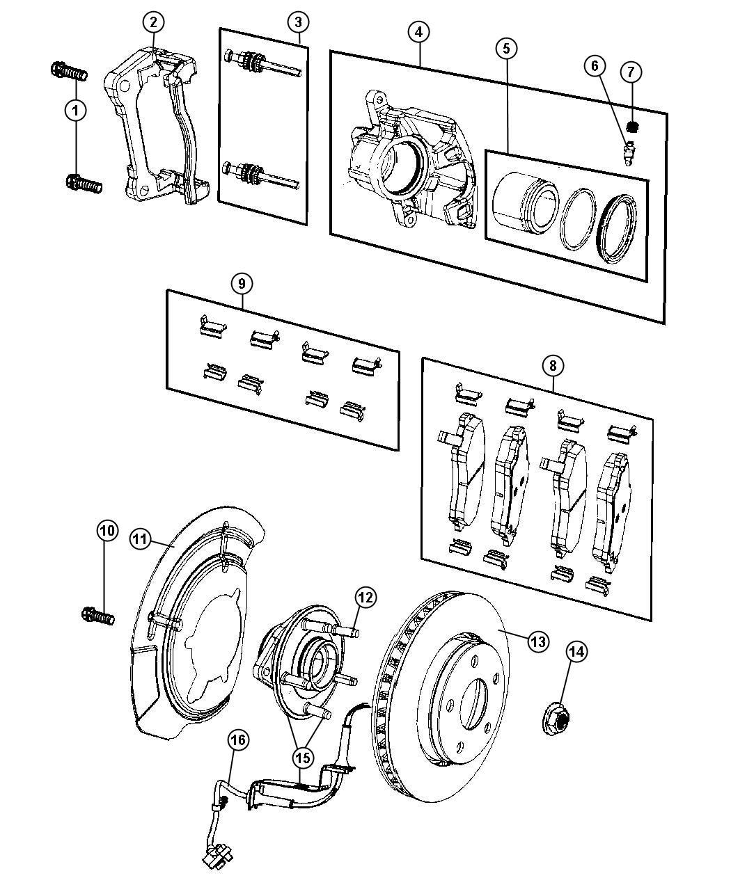 2012 Jeep Liberty Sensor kit, sensor package. Anti-lock