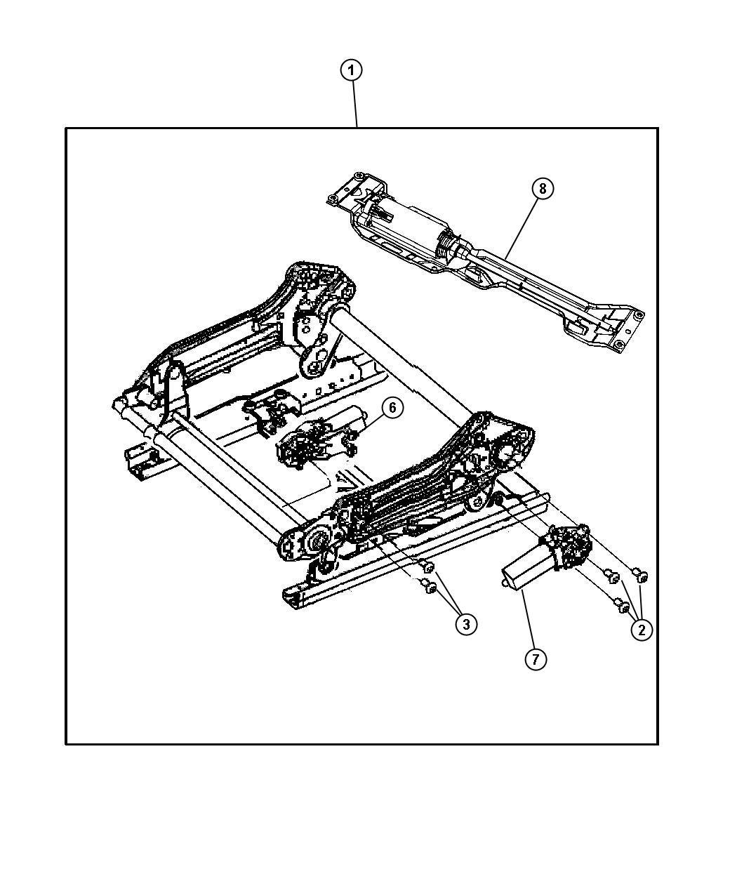 Chrysler Aspen Screw Seat Tilt Motor Trim Zl