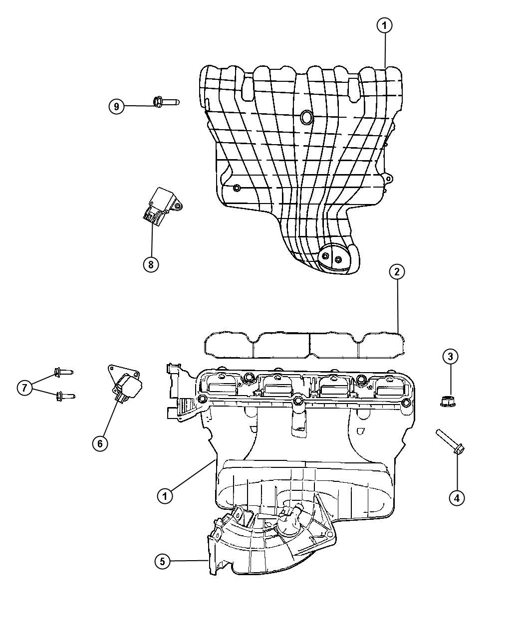 Dodge Caliber Actuator. Flow control valve. With [5-speed