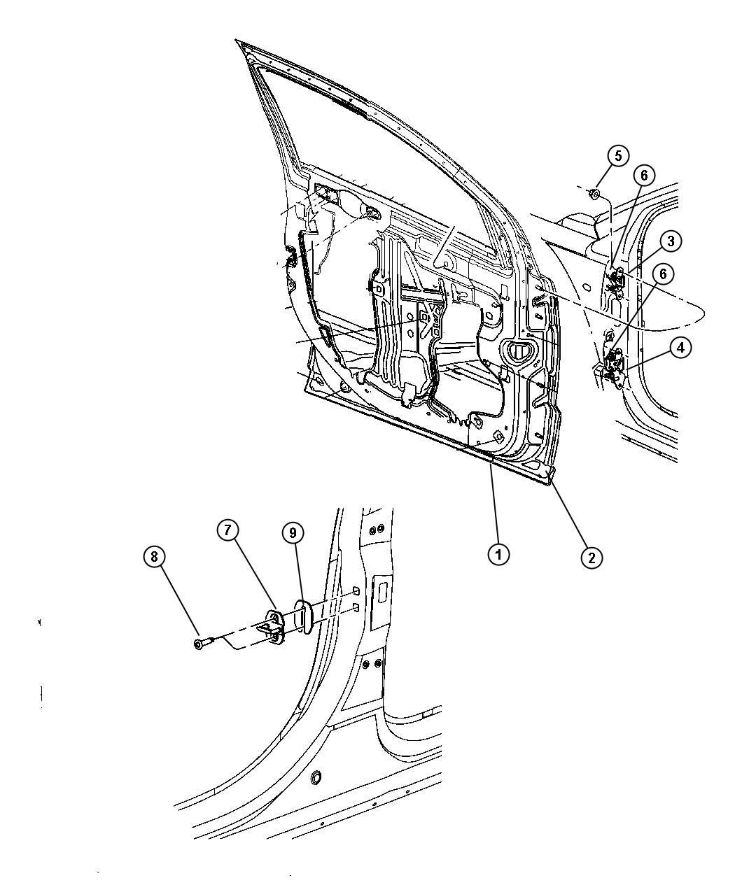 Service manual [2008 Dodge Caliber Sliding Door Bracket