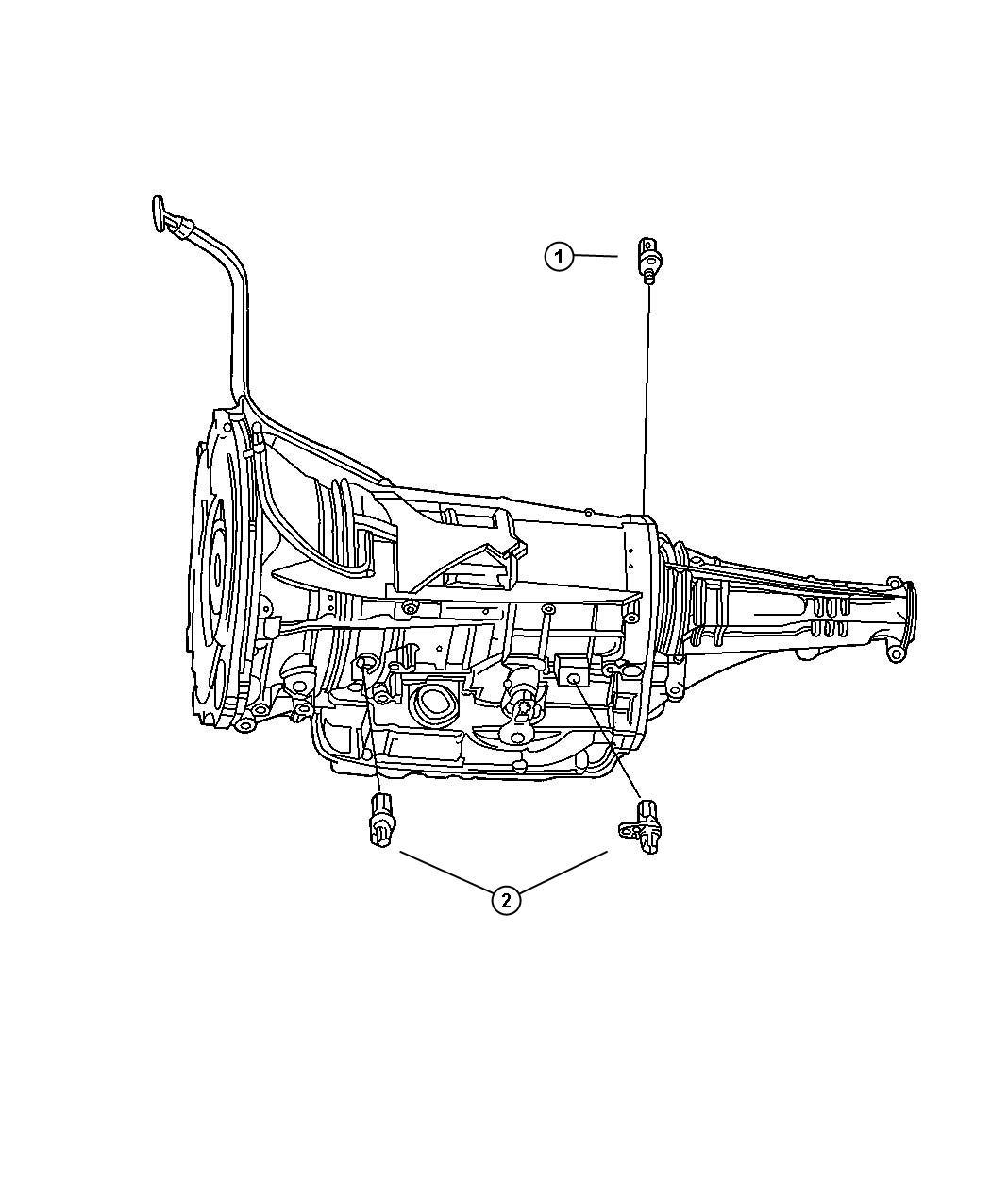 Chrysler 300 Sensor. Transmission input speed. Input
