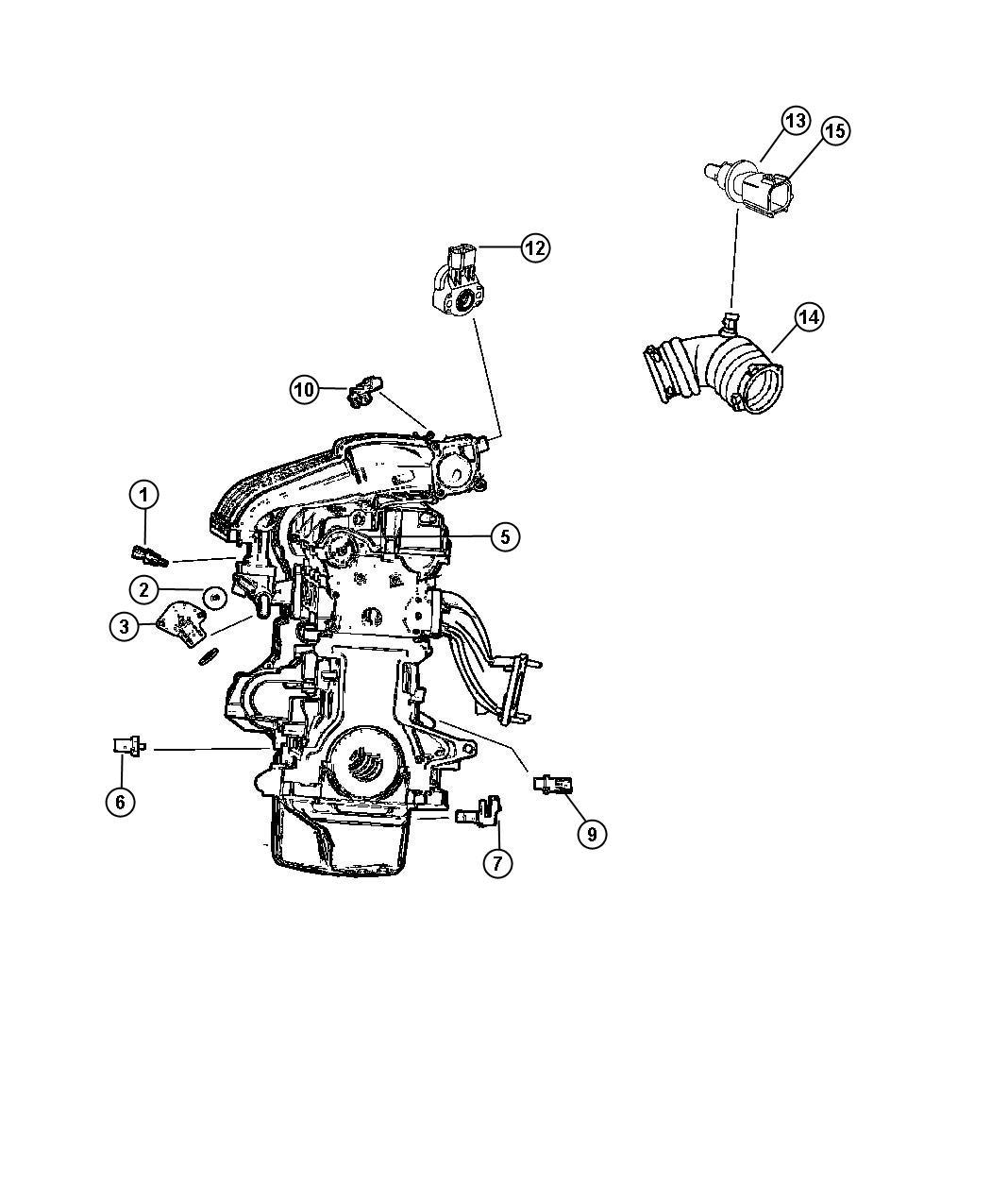 Chrysler Crossfire Sensor. Throttle position. Ejdedzedtedv