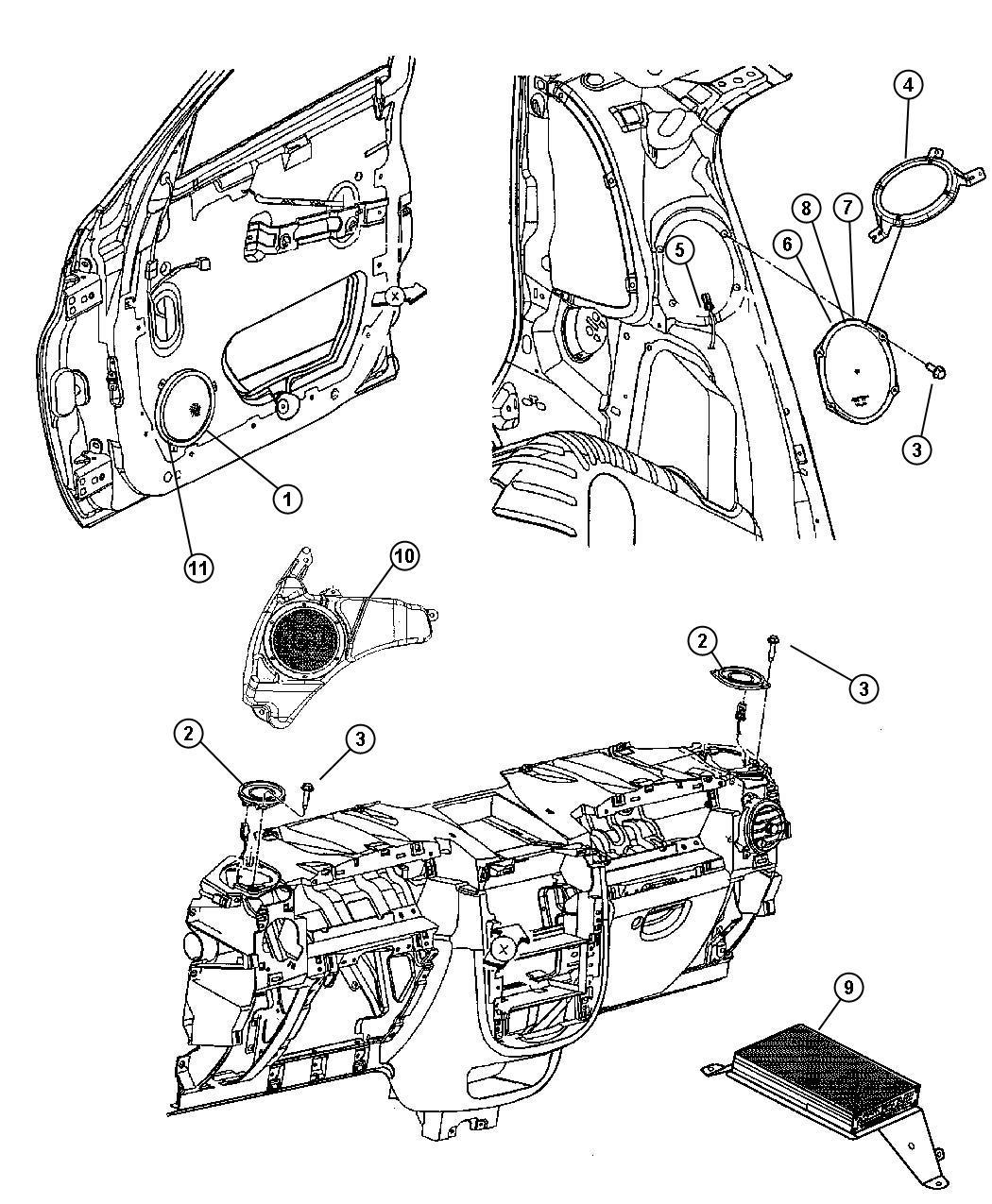 Jeep Commander Amplifier. Audio. Speakersamplifiers