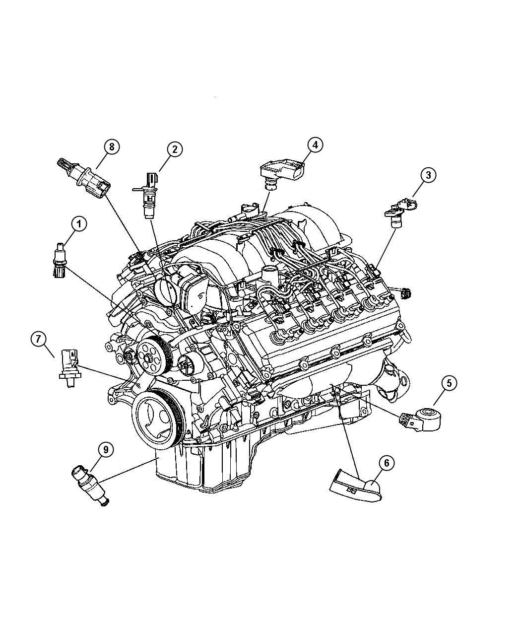 Chrysler 300 Sending Unit Oil Pressure