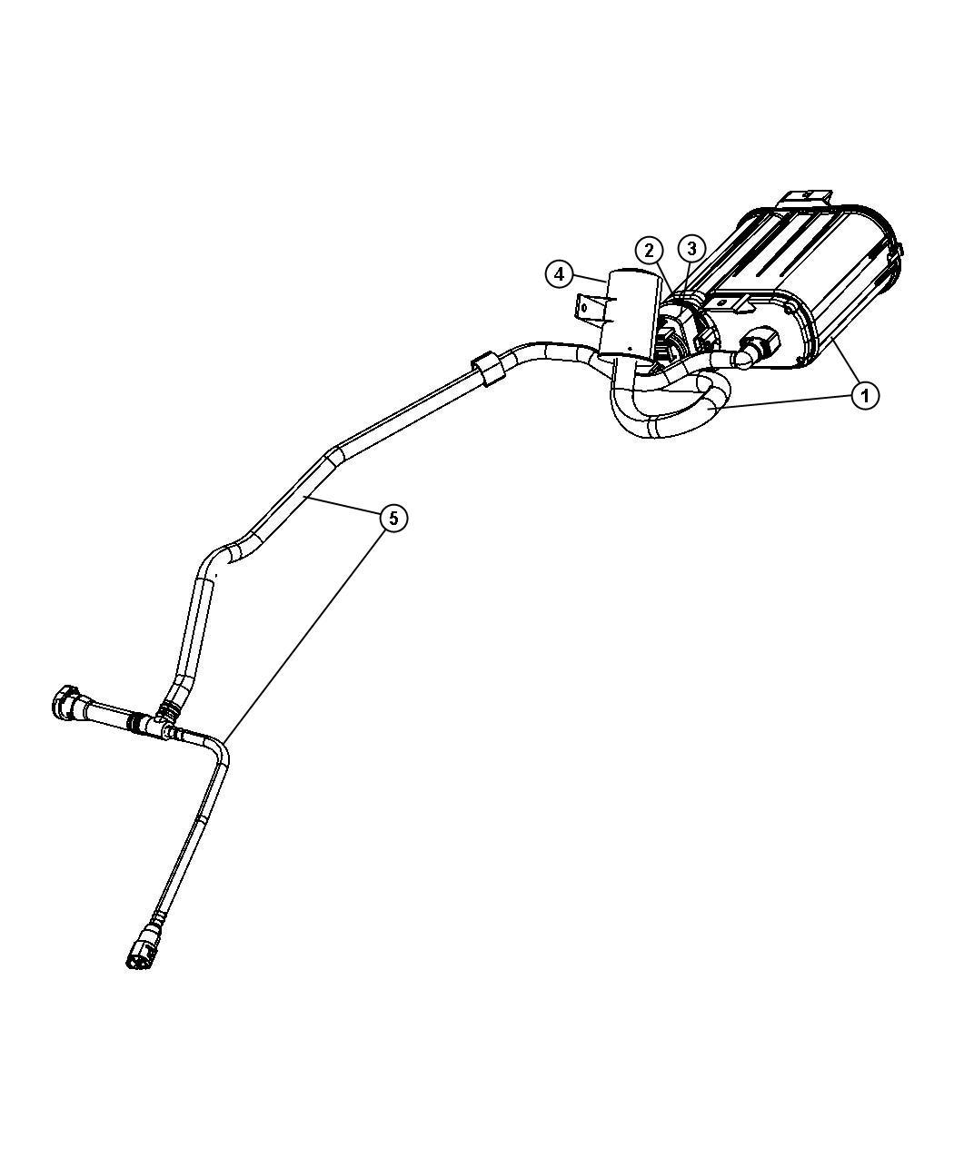 2008 Dodge Avenger Vapor Canister and Leak Detection Pump.