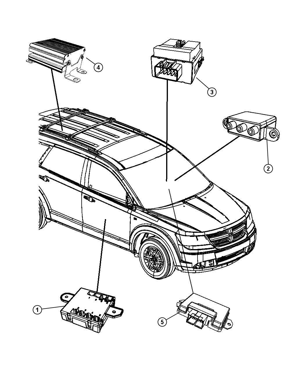 Dodge Journey Module. Electric clutch control. Viscous