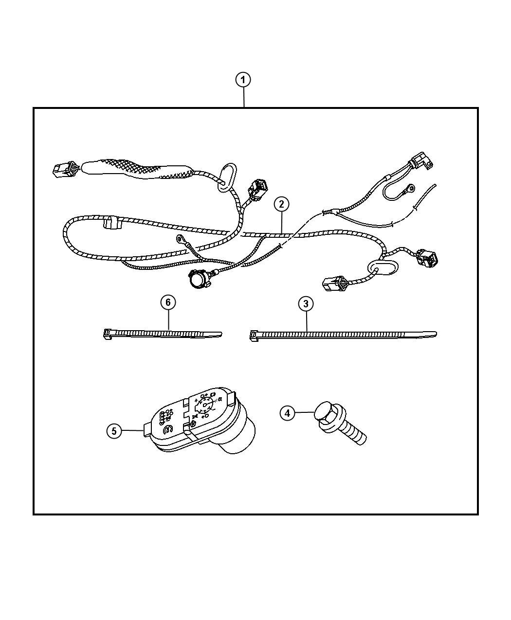 Dodge Ram 5500 Trailer Tow Wiring Harness Kit, with 7-way