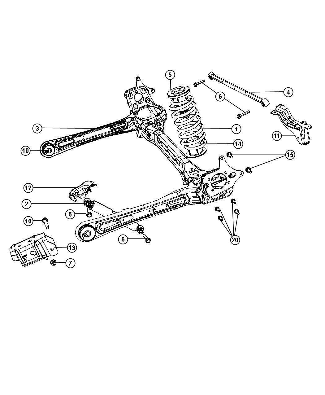 Chrysler Town & Country Shock absorber kit. Suspension