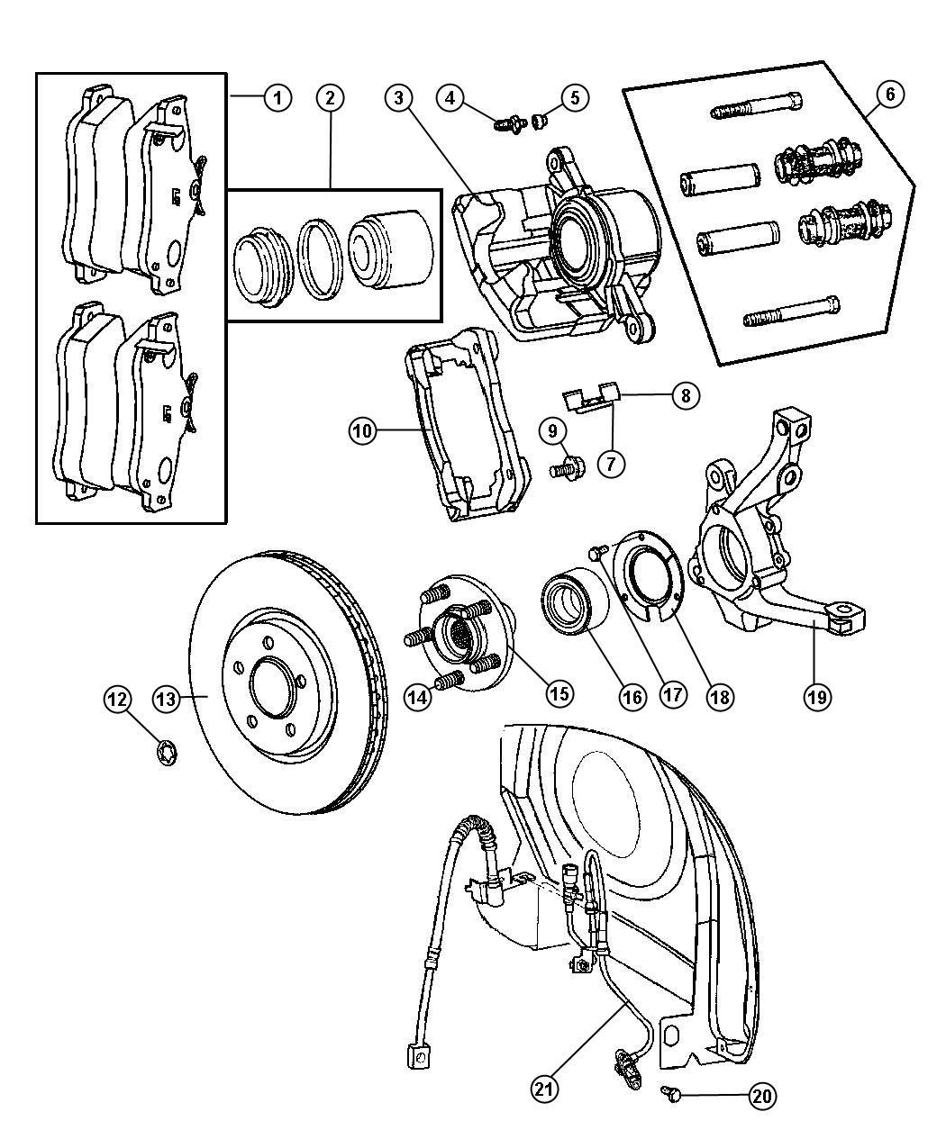 Chrysler Pt Cruiser Retainer. Right or left. Hub bearing