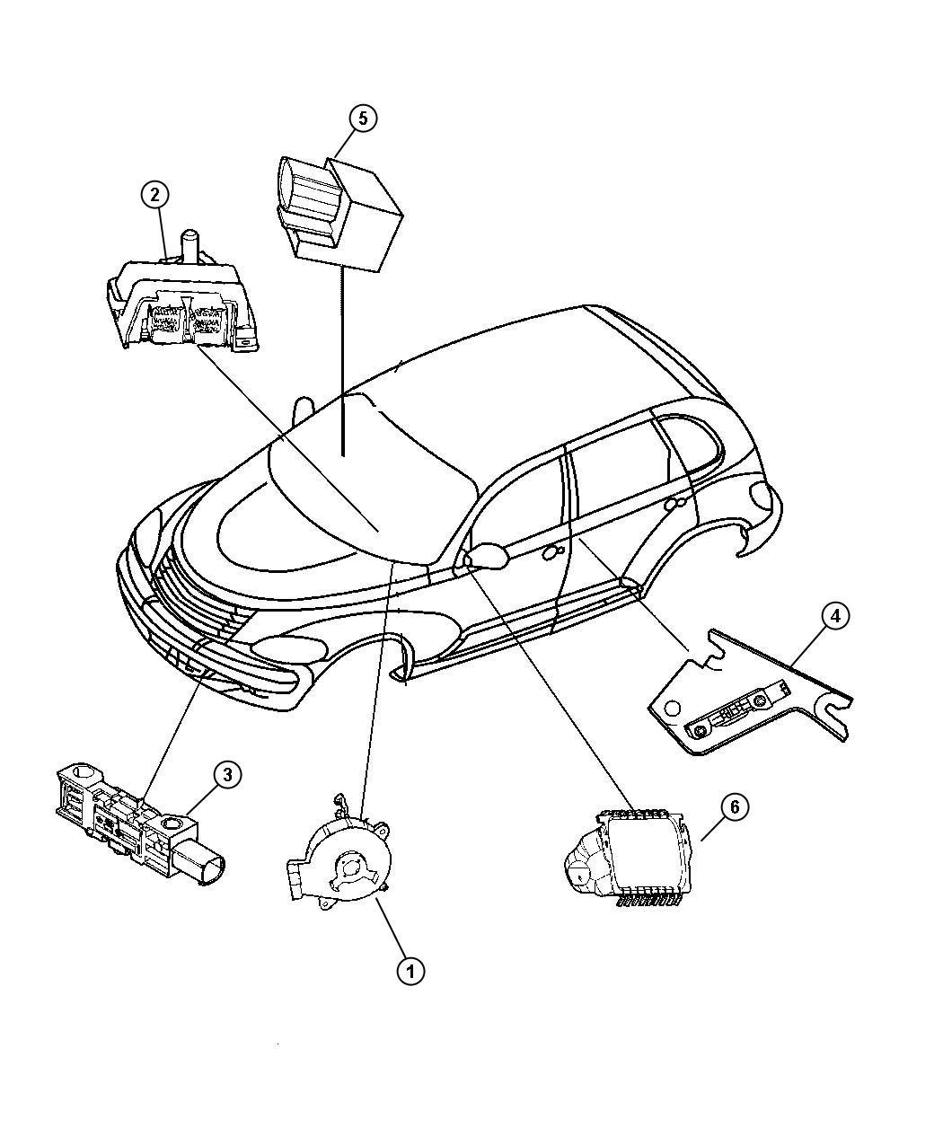 Chrysler Pt Cruiser Clockspring Steering Column Control