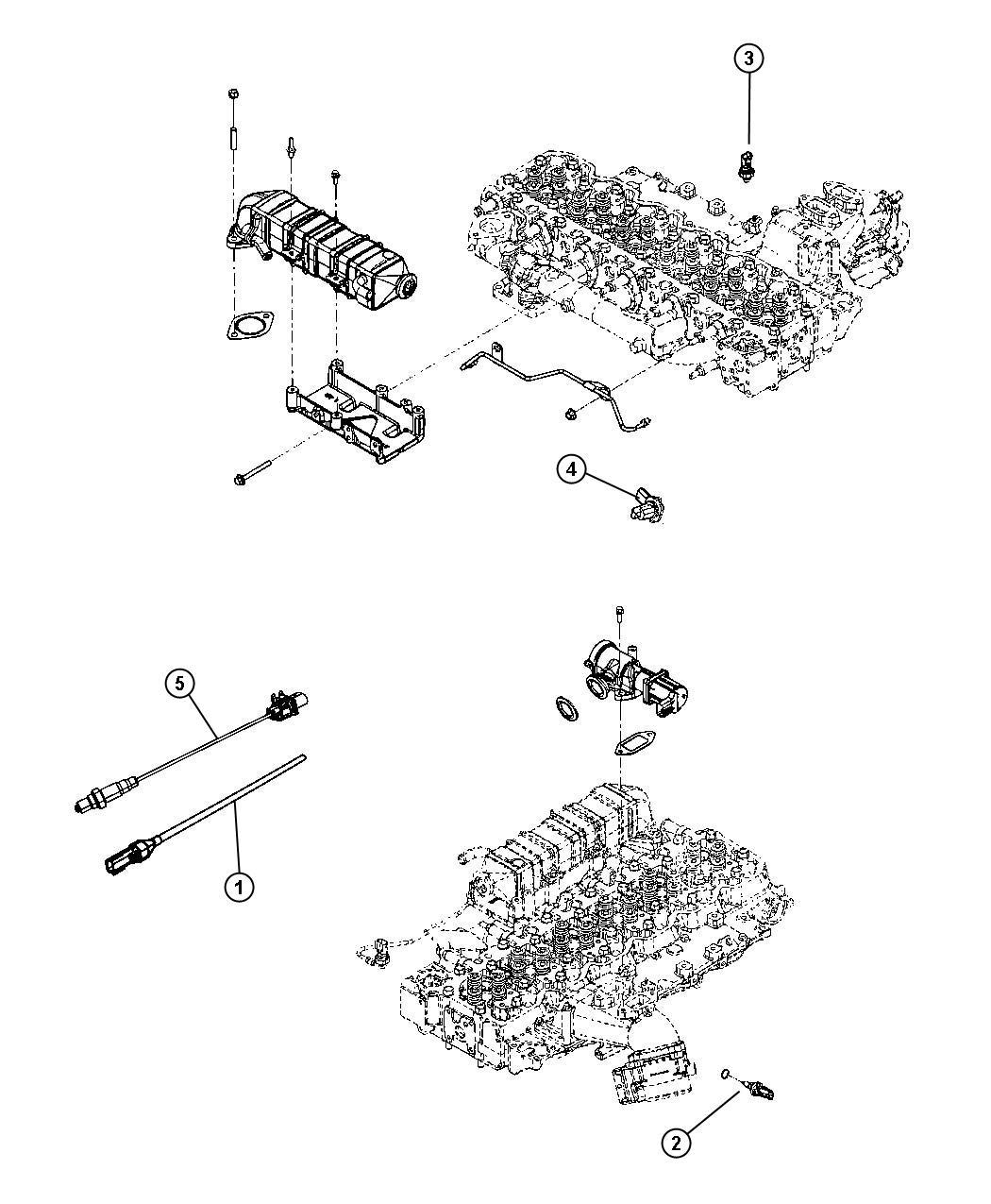 Dodge Ram 2500 Sensor. Oxygen. After catalyst rt hand