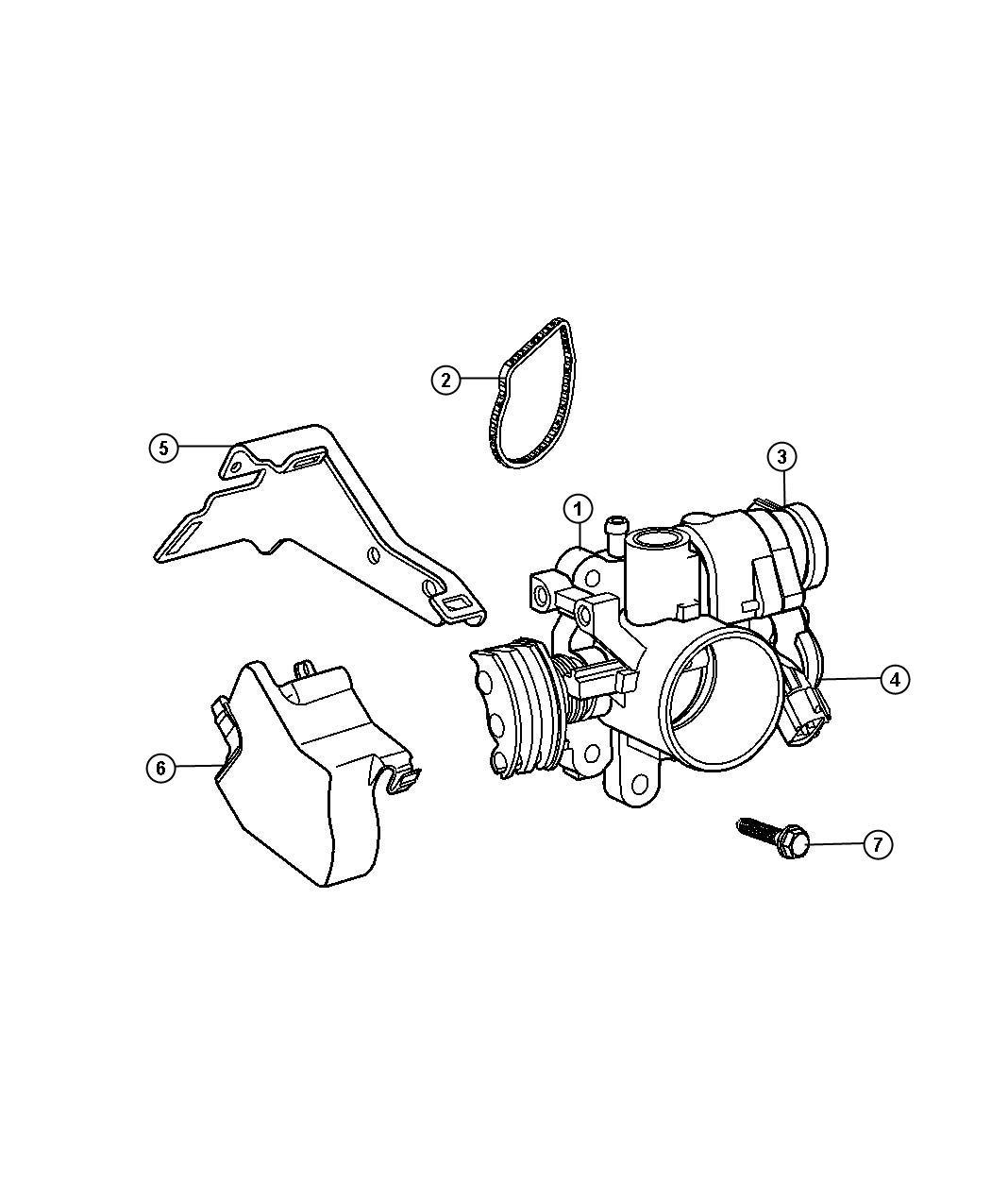 2007 Chrysler Sensor. Throttle position. Ejdedzedtedv